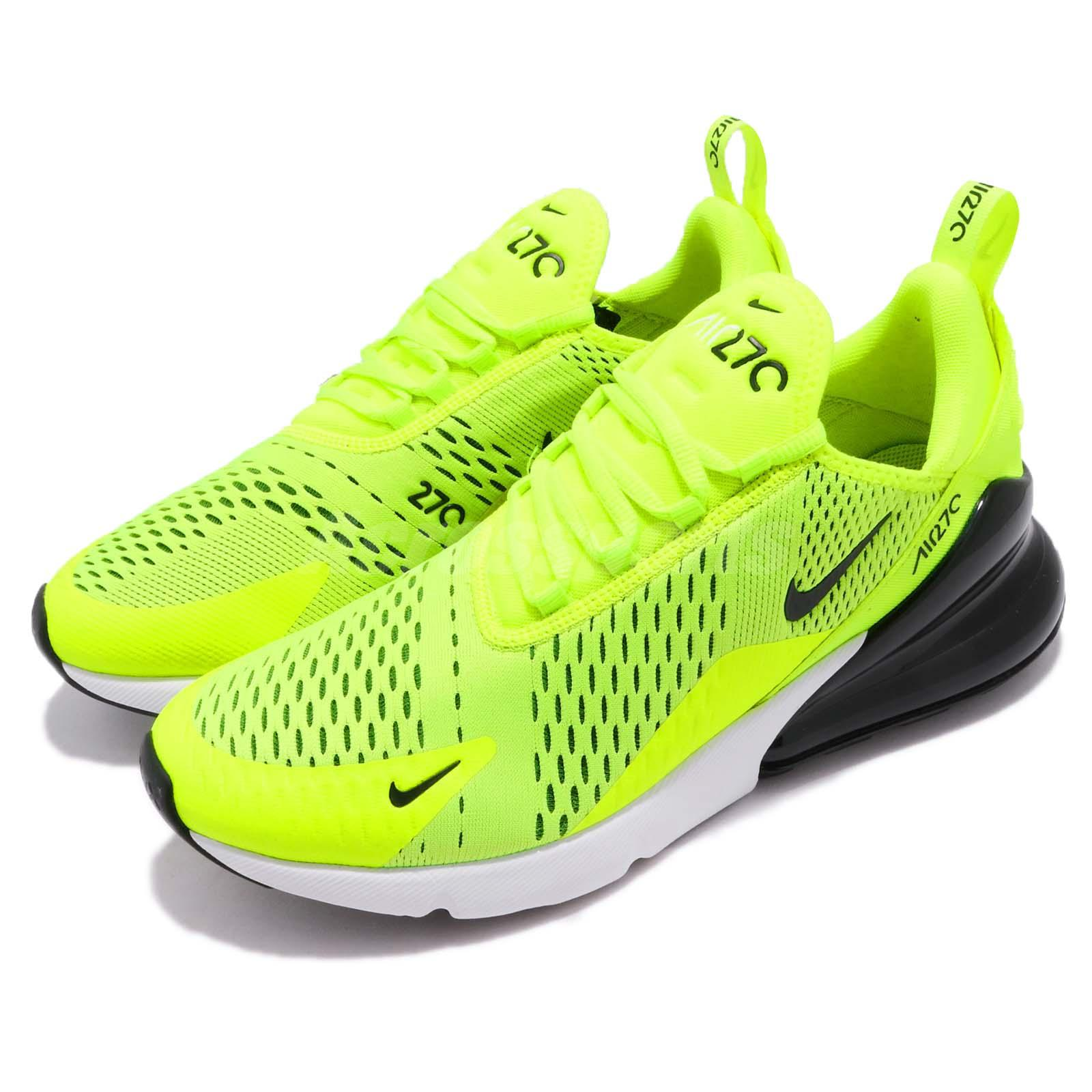 0f088d8cdee Details about Nike Air Max 270 Volt Black White Men Running Casual Shoes  Sneakers AH8050-701