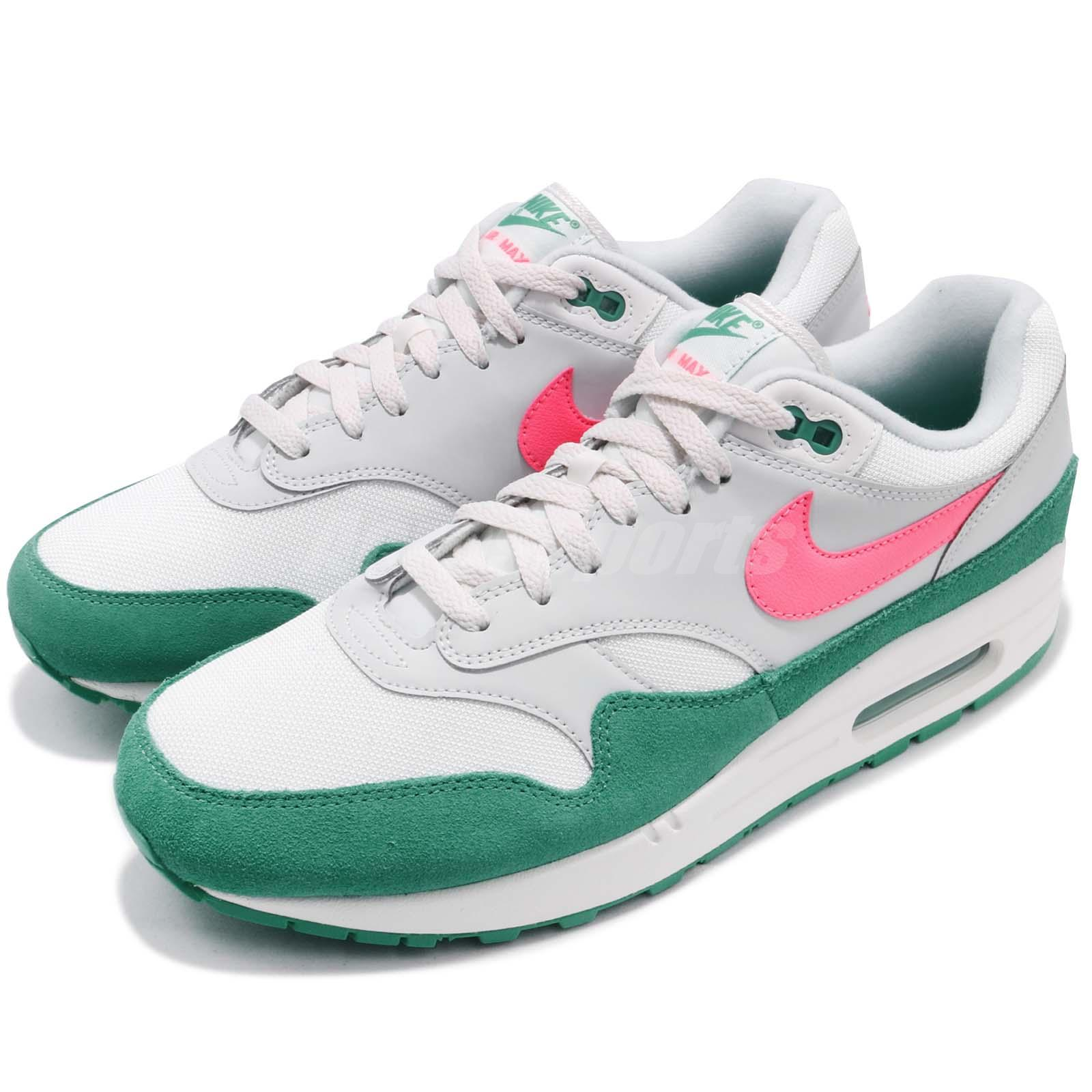 sports shoes 89125 6a7fb Details about Nike Air Max 1 Watermelon South Beach Green Men Running Shoes  Sneaker AH8145-106