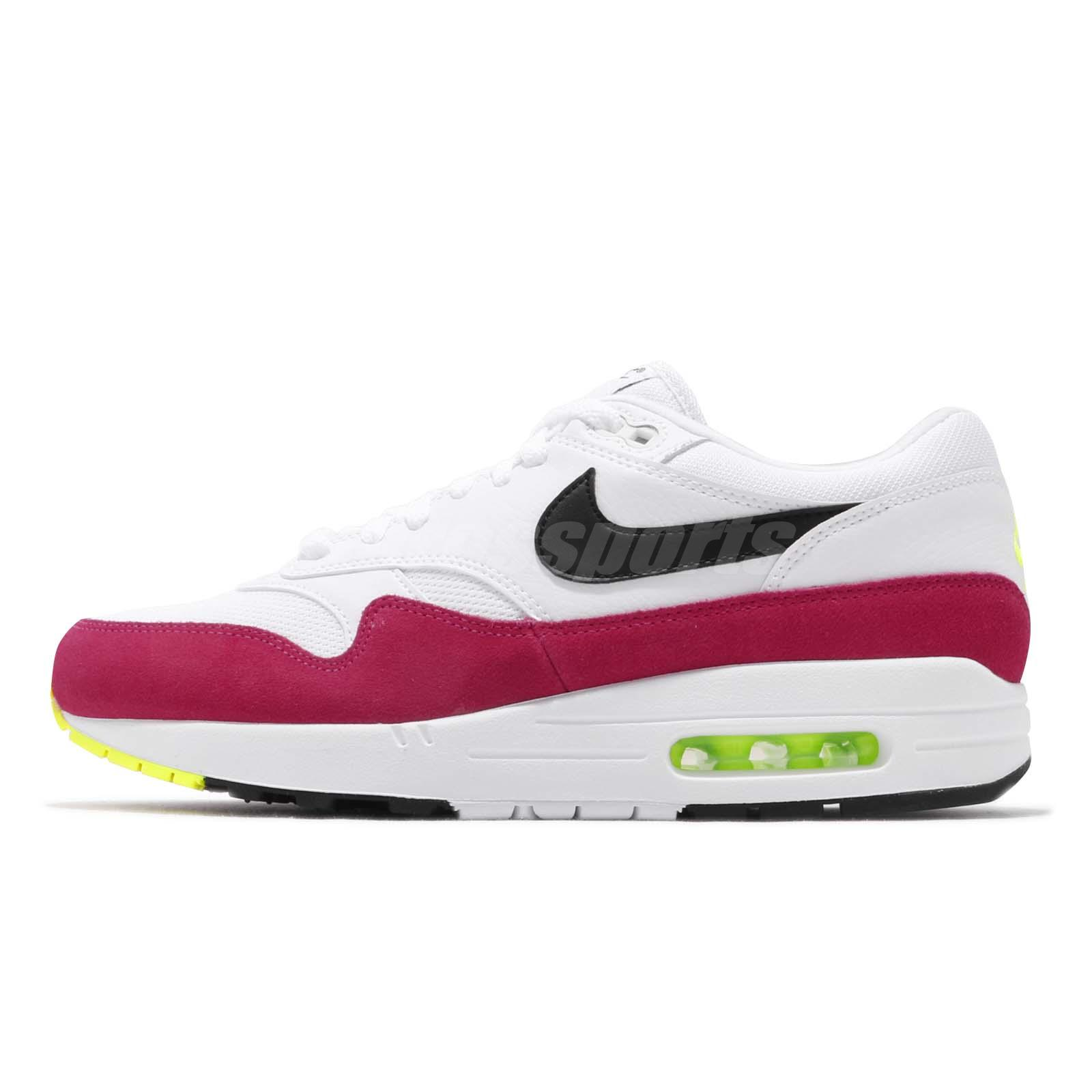 new high the latest large discount Nike Air Max 1 White Black Volt Mens Running Shoes NSW Day 326 ...
