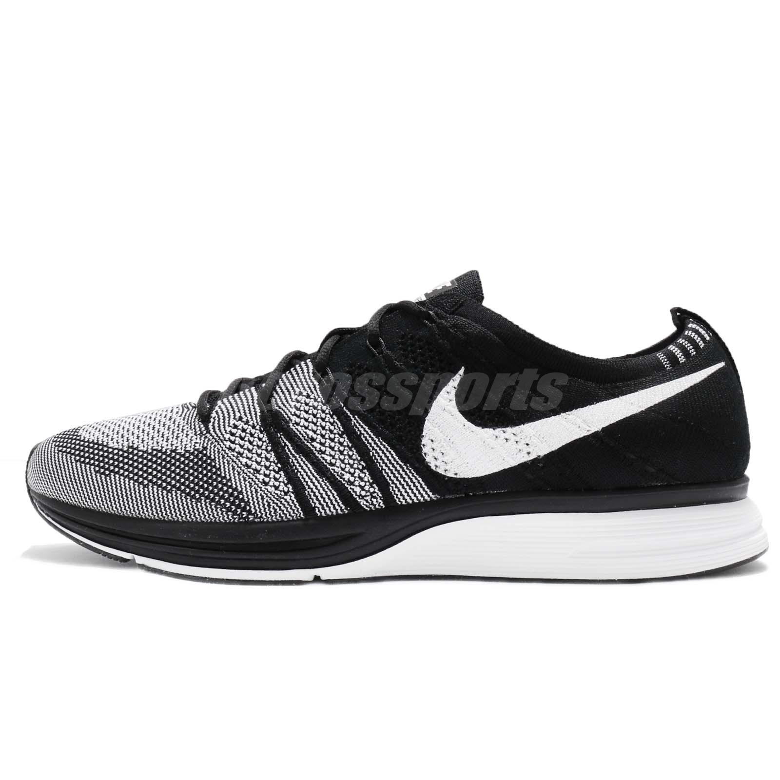 5f4bbef958056 ... clearance nike flyknit trainer oreo og retro black white kanye west men  running ah8396 005 52bf4