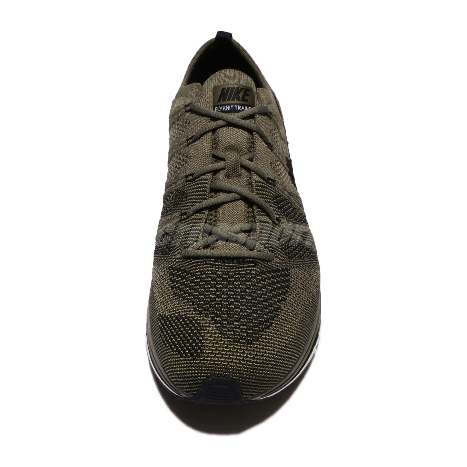 f772953191174 ... Nike Flyknit Trainer Medium Olive Green Black Mens Running S