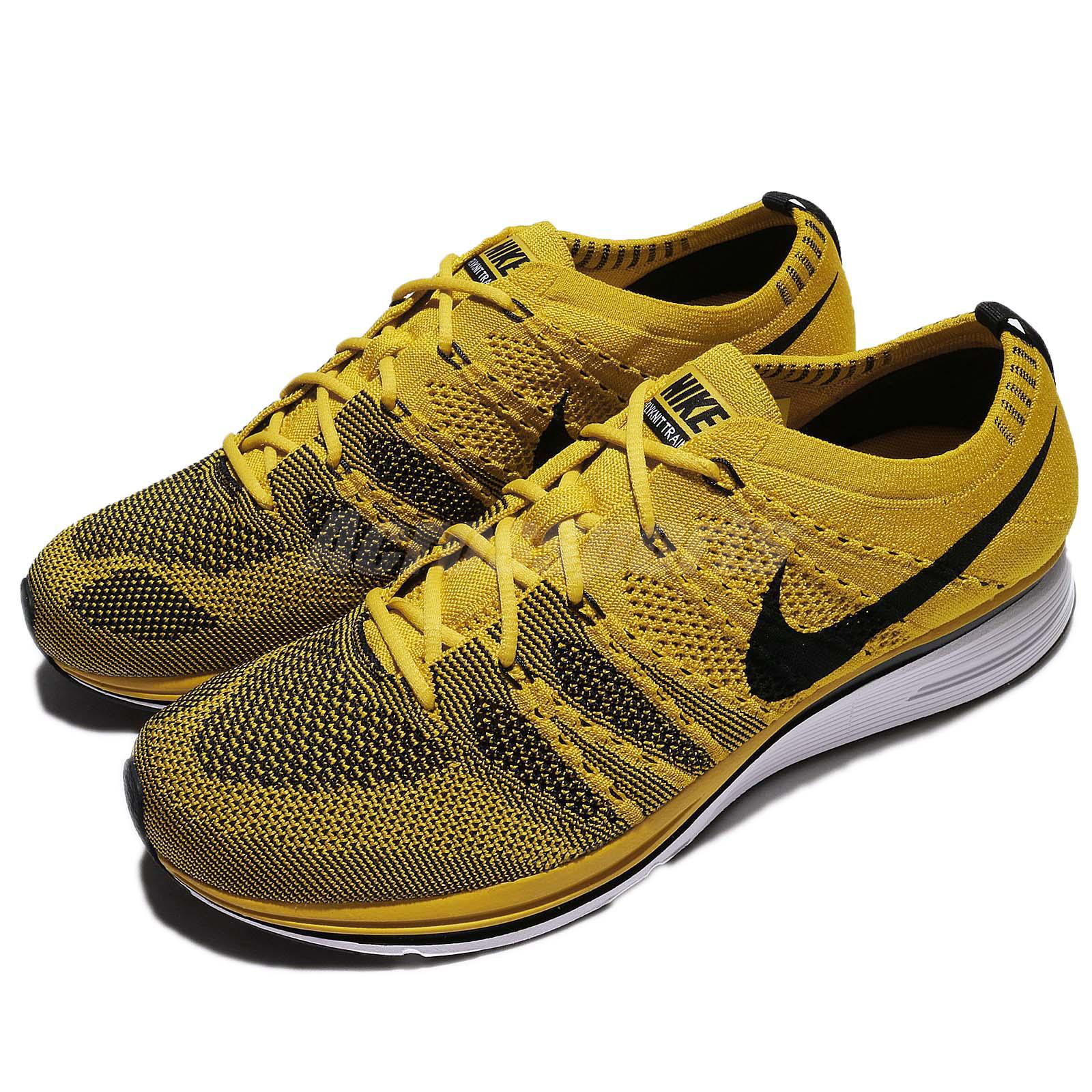 8d073893063d Details about Nike Flyknit Trainer Bright Citron Black Men Running Shoes  Sneakers AH8396-700