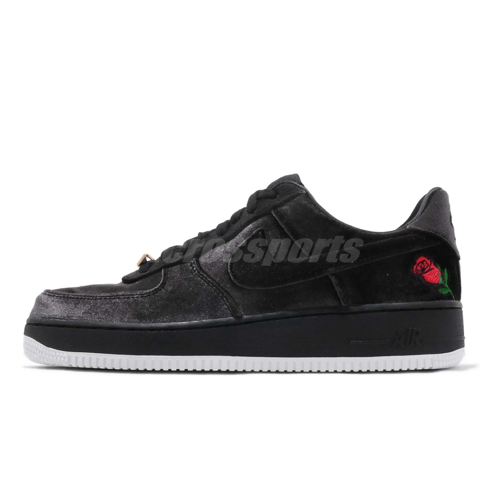 new style 98da8 3a1b0 Nike Air Force 1 07 QS Black Velvet Rose Mens AF1 Shoes Sneakers AH8462-003