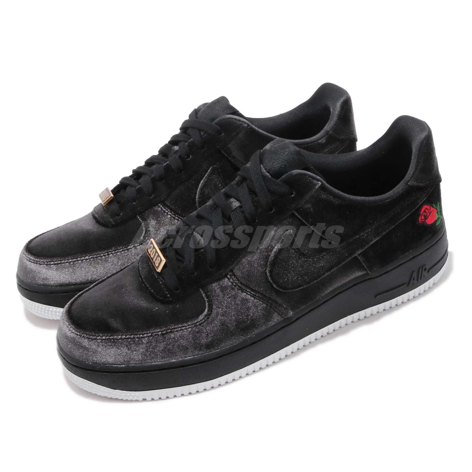 newest ada2a d2320 Details about Nike Air Force 1 07 QS Black Velvet Rose Mens AF1 Shoes  Sneakers AH8462-003