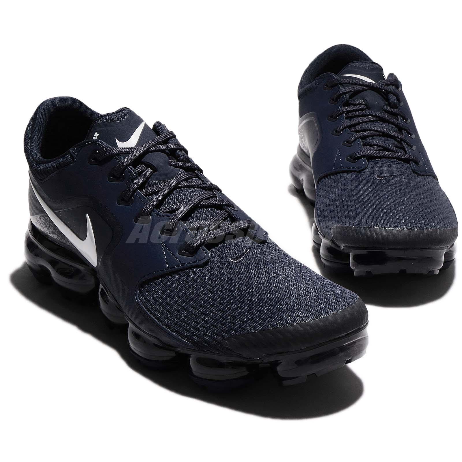 Nike Air Vapormax Thunder Blue White Mesh Men Running Shoes Sneakers