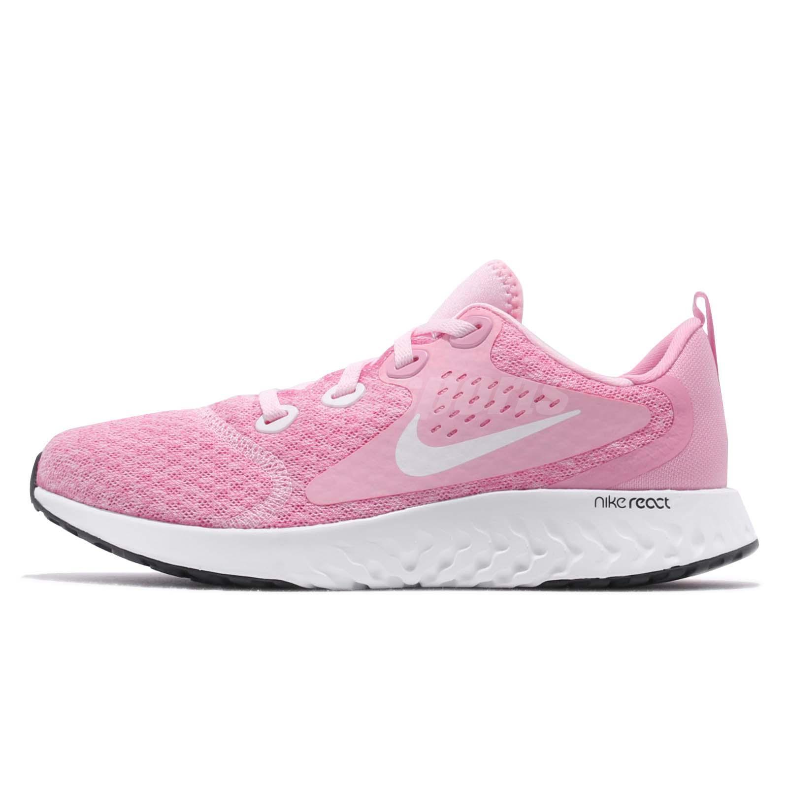 Pink Legend Running Gs Youth Shoes React White Kid Women Nike 08wmOyNvn
