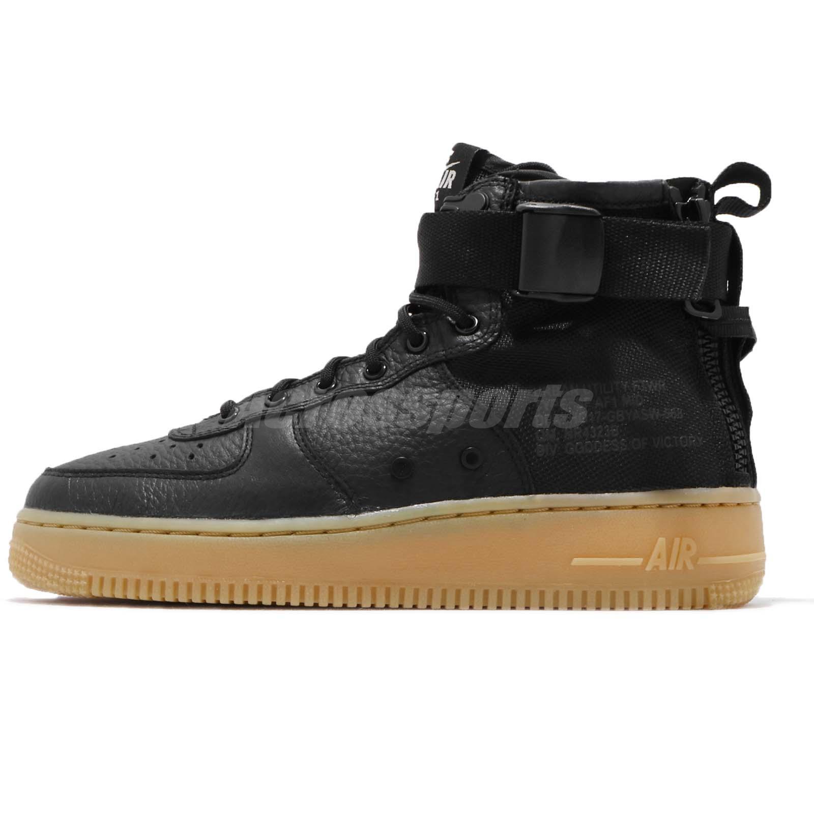 Nike SF AF 1 Mid GS Air Force 1 Black Gum Kid Youth Women Casual Shoe AJ0424 -001 80ebcd831