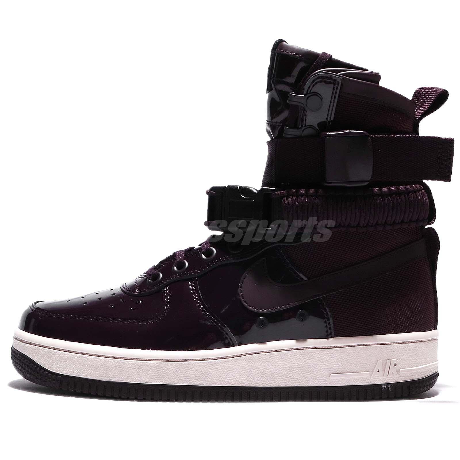 brand new 6a423 b9206 Wmns Nike SF AF1 SE PRM Air Force 1 Hi Ruby Rose Port Wine Women Shoe  AJ0963-600