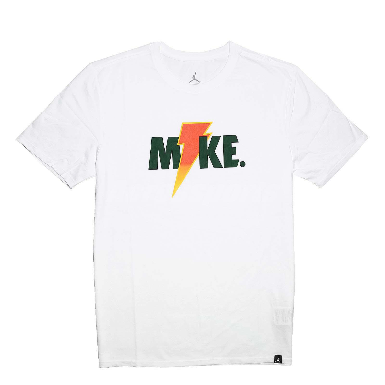 950dc518d57a ... Nike Men JORDAN SPORTSWEAR LIKE MIKE LIGHTNING Tee White Orange Shirt  AJ1164-100 . ...