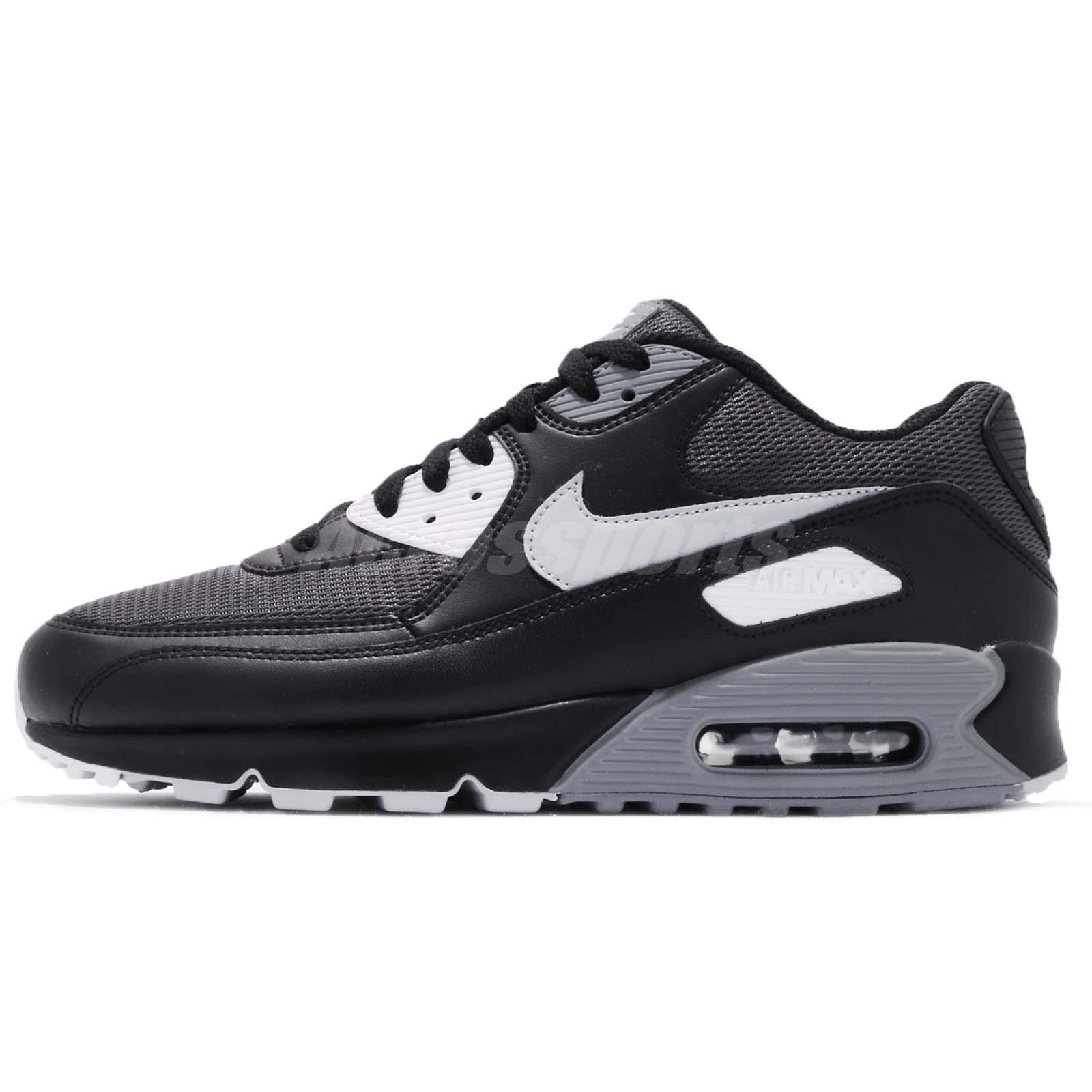 e28dbdd3ea4b Nike Air Max 90 Essential Black Wolf Dark Grey Men Running Shoes AJ1285-003