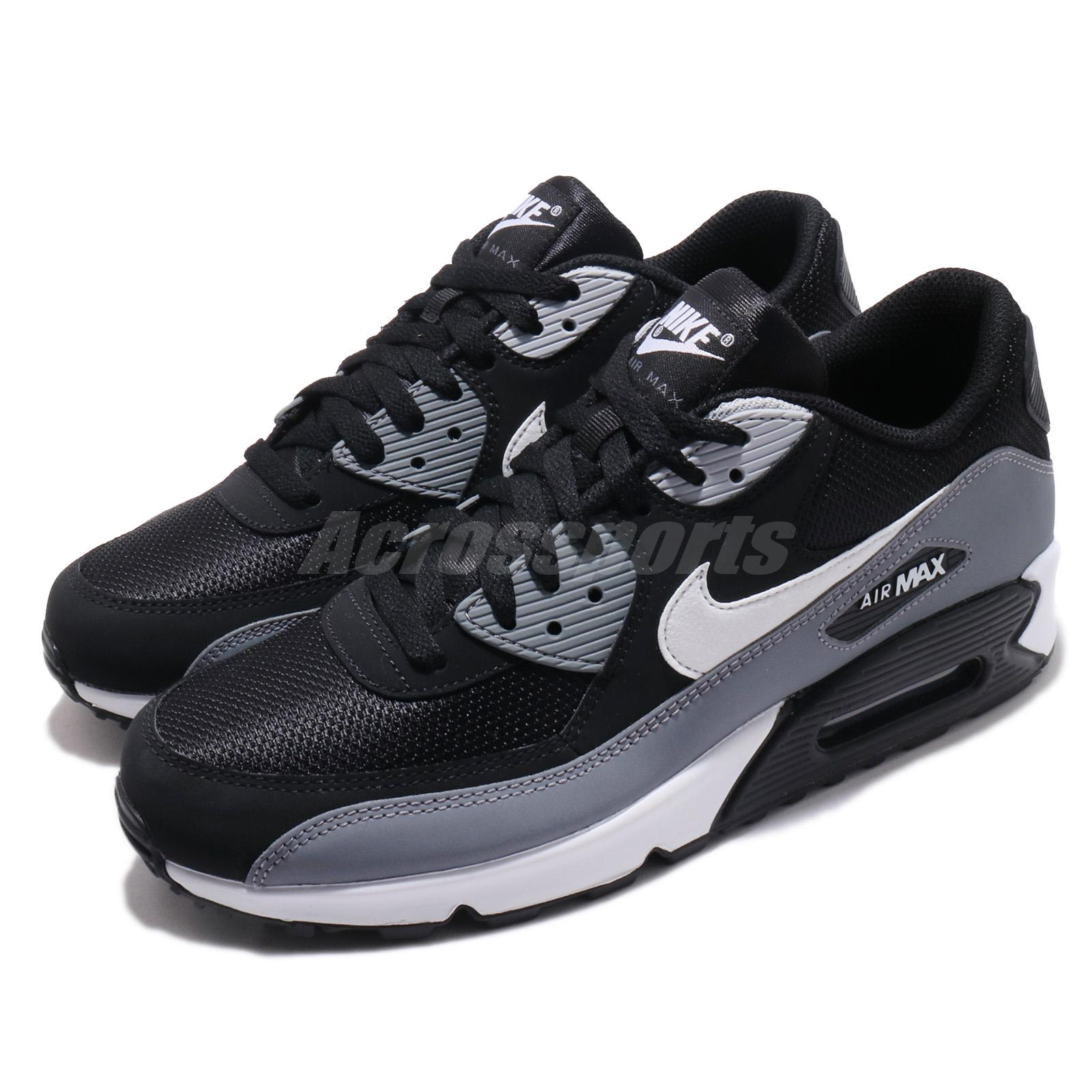 Details about Nike Air Max 90 Essential Black White Grey Men Running Shoes Sneakers AJ1285 018