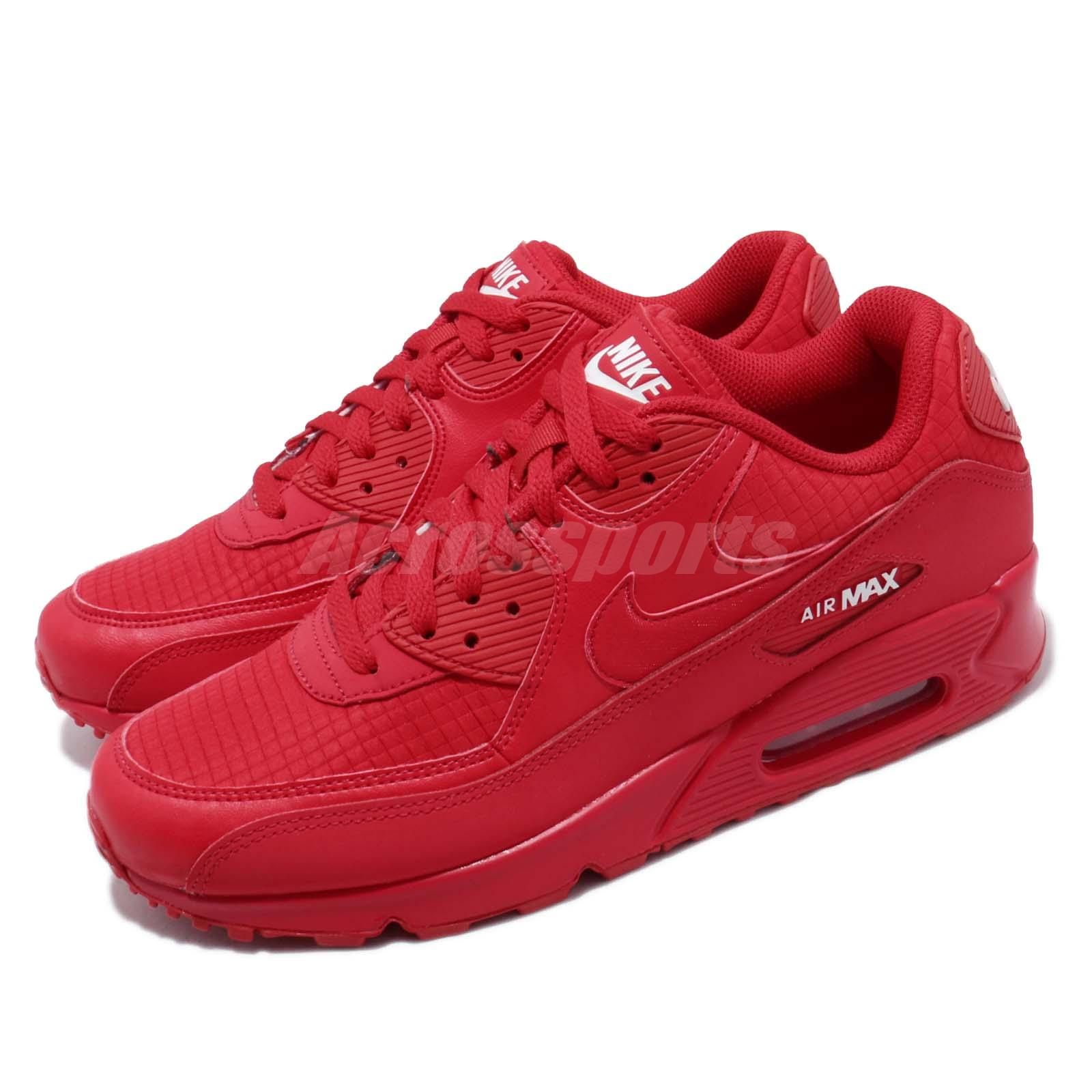 NIKE AIR MAX 90 PREMIUM Kie Ney AMAX 90 sneakers men 700,155 602 red [load planned Shinnyu load in reservation product 512 containing] [185]