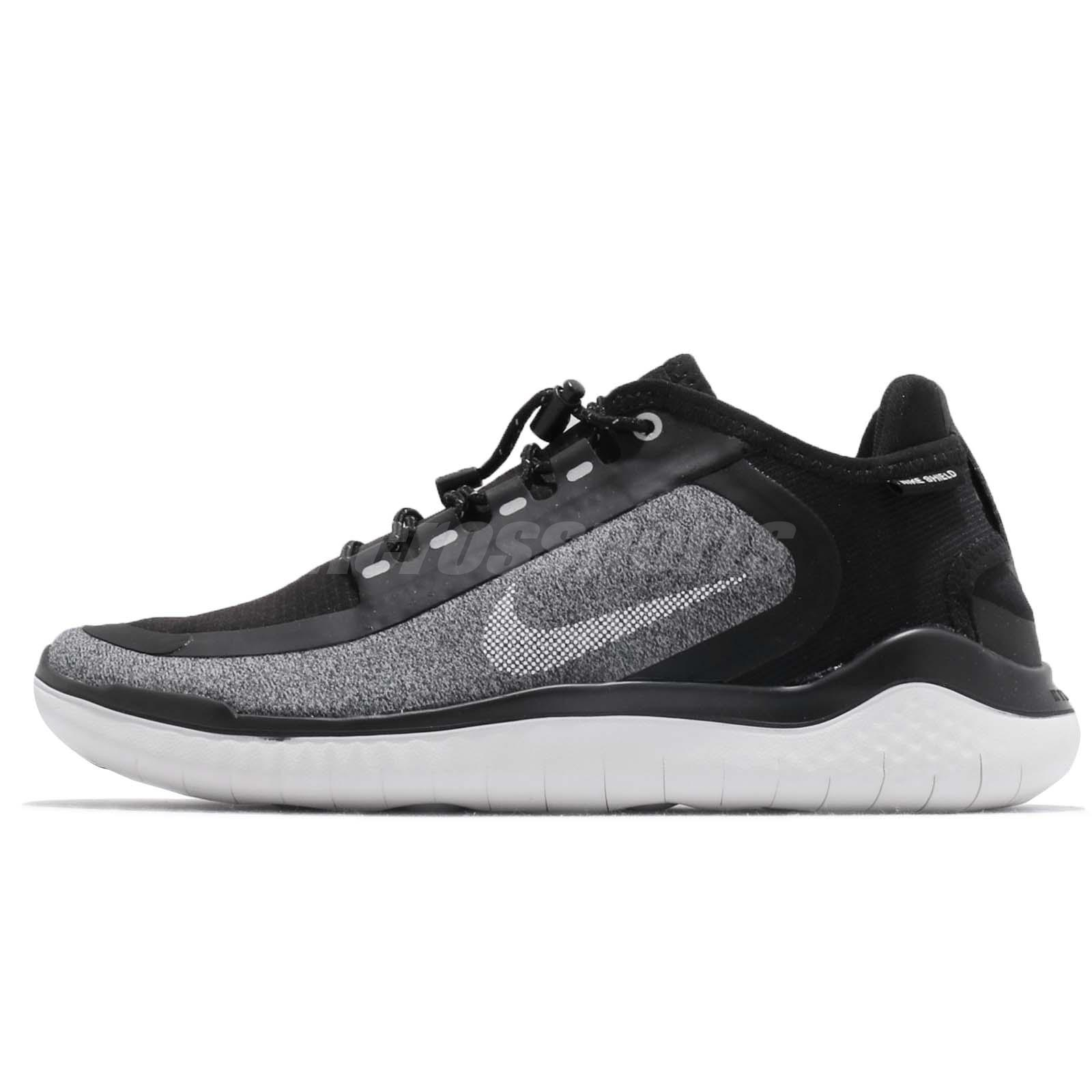 cd0f91060d964 Nike Wmns Free RN 2018 Shield Black White Grey Women Running Shoes  AJ1978-002