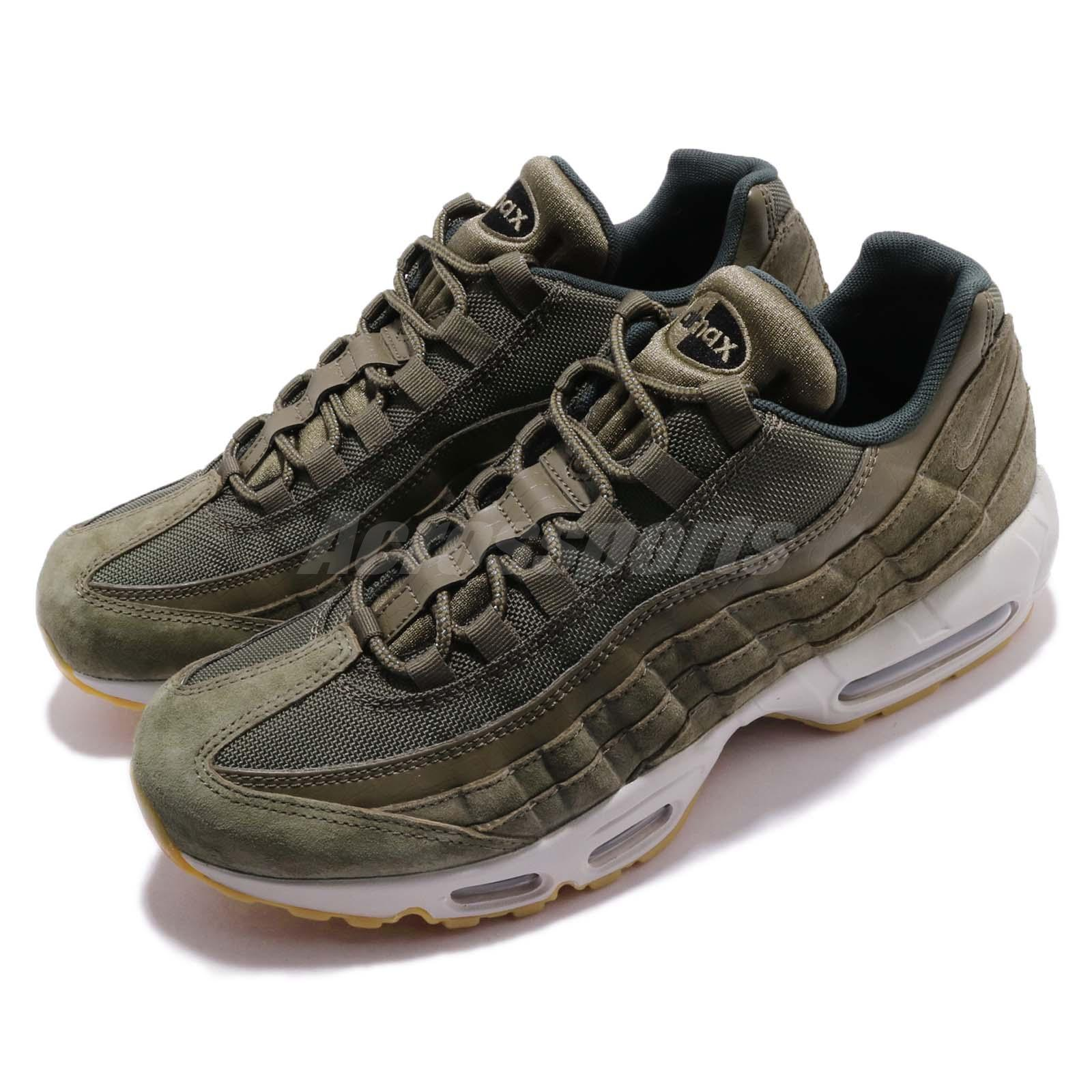 e3e7a3fc820 Details about Nike Air Max 95 SE Olive Canvas Gum Men Running Casual Shoes  Sneakers AJ2018-300