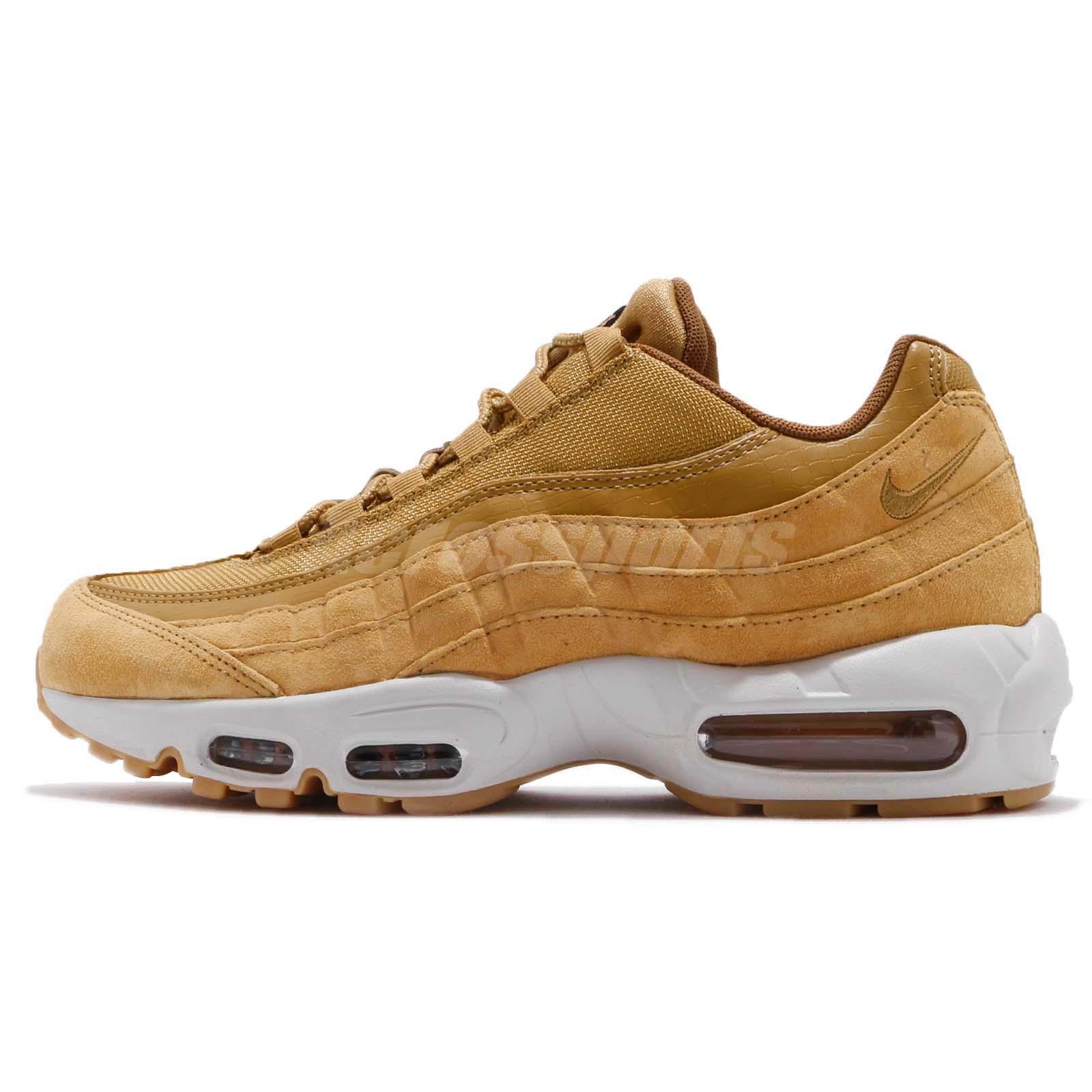 release date: 624f8 45430 Nike Air Max 95 SE Wheat Pack Light Bone Men Running Shoes Sneakers AJ2018- 700