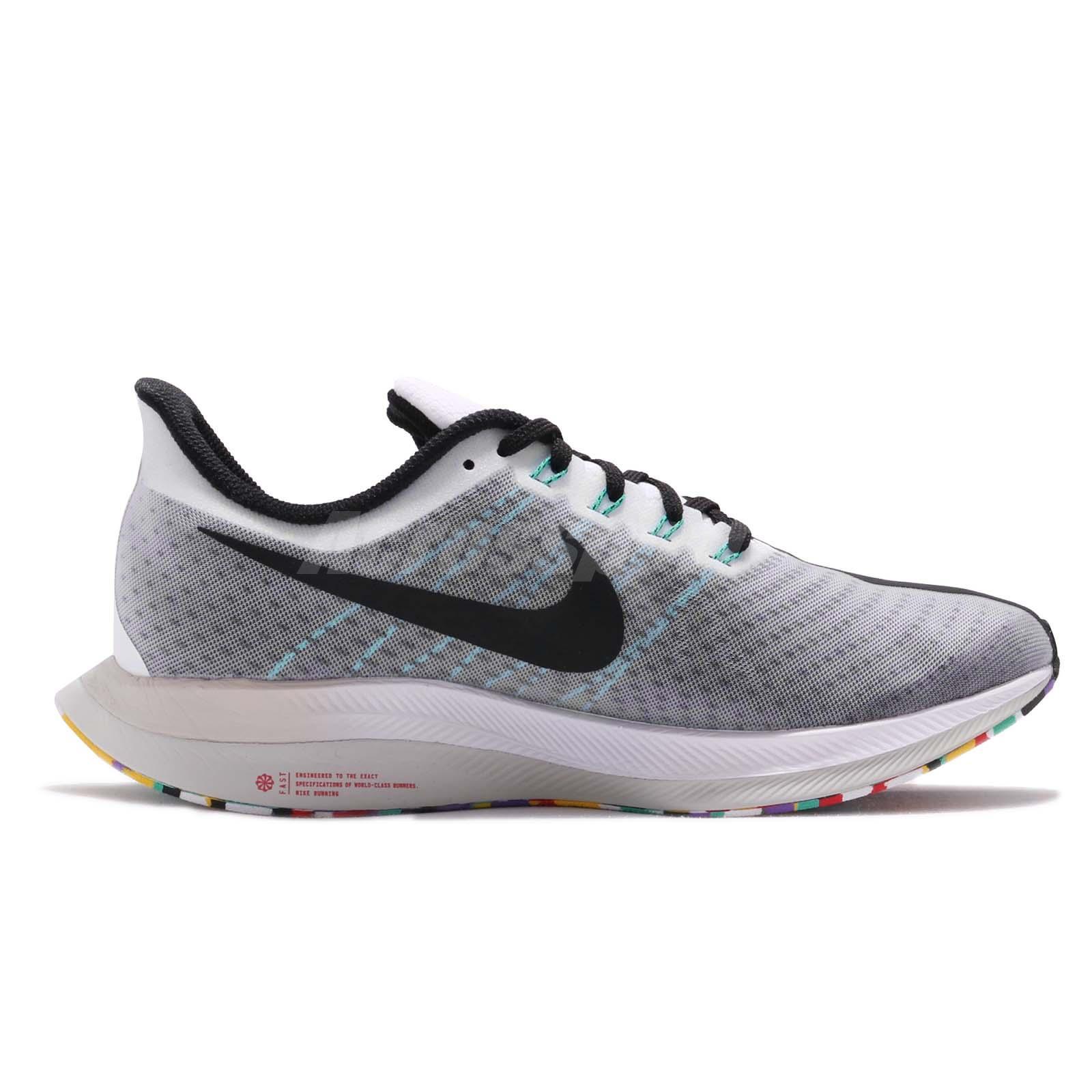 competitive price b3099 8ec71 Details about Nike Zoom Pegasus 35 Turbo White Black Hyper Jade Men Running  Shoes AJ4114-101