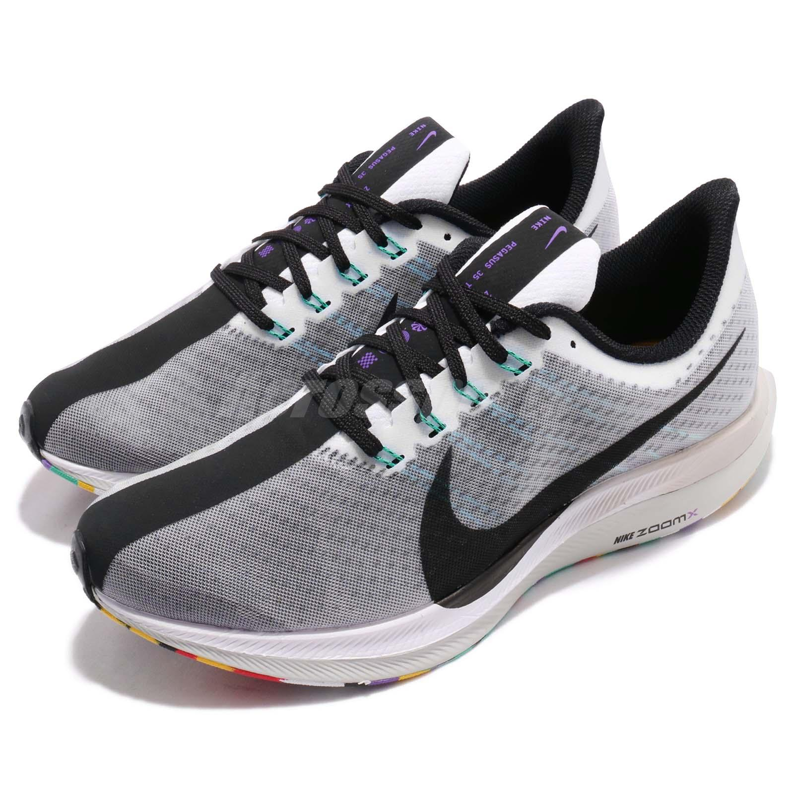 competitive price 0dc1f 9bab3 Details about Nike Zoom Pegasus 35 Turbo White Black Hyper Jade Men Running  Shoes AJ4114-101