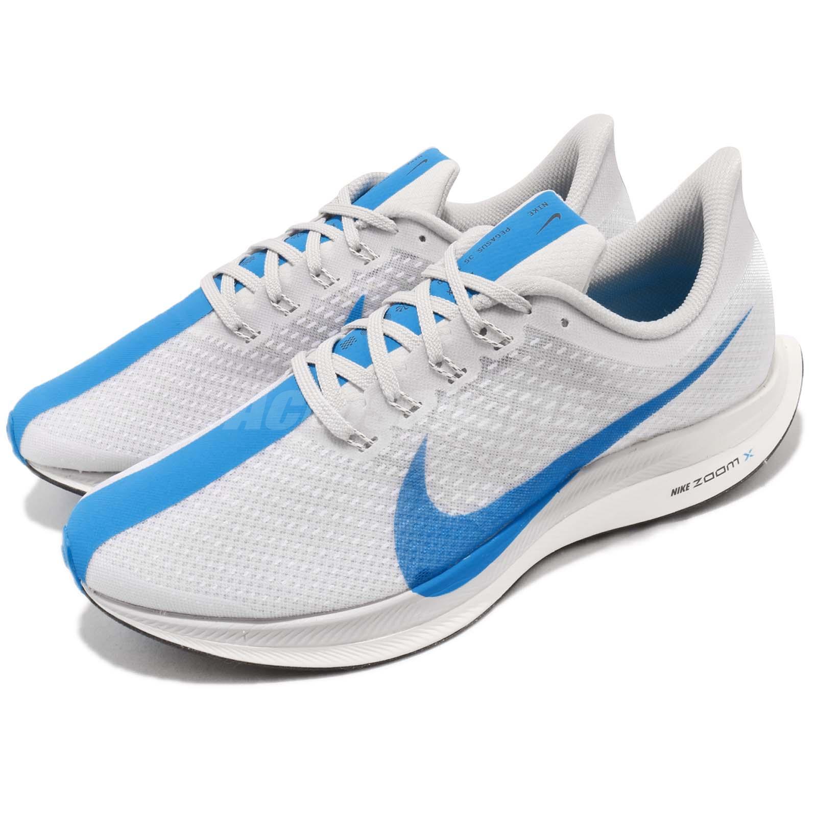 e0256597bc4 Details about Nike Zoom Pegasus 35 Turbo White Blue Hero Grey Mens Running  Shoes AJ4114-140