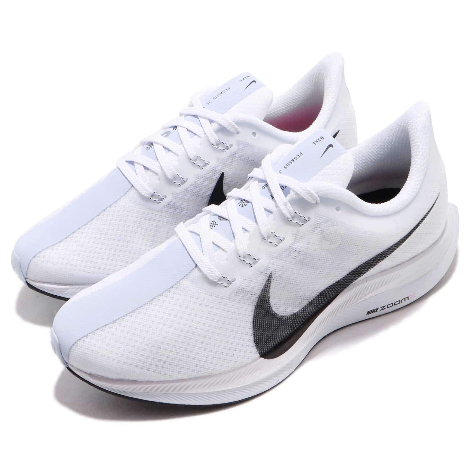 6205d13691418 Details about Nike Wmns Zoom Pegasus 35 Turbo White Black Blue Women  Running Shoes AJ4115-102