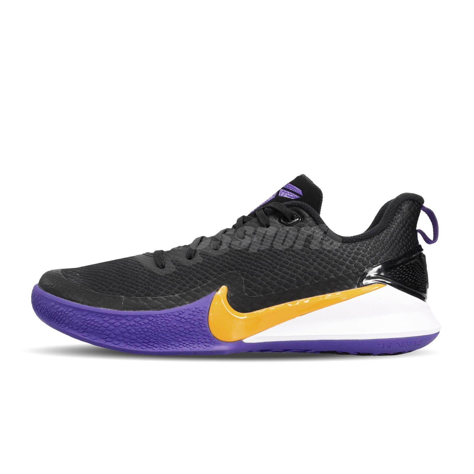 De confianza Kakadu Artificial  Nike Mamba Focus Kobe Bryant Lakers negro púrpura hombres Tenis de ...