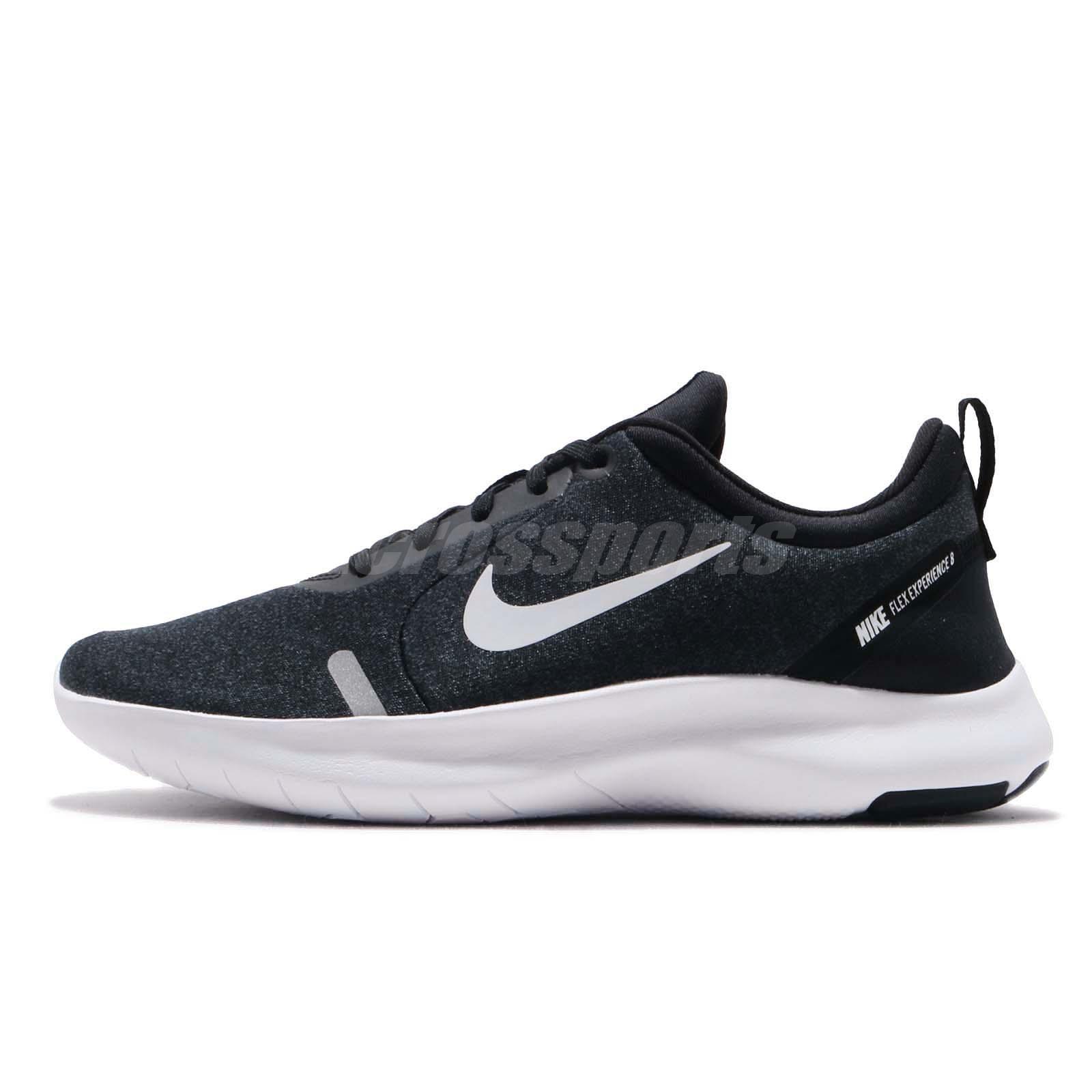 608113330b0 Nike Wmns Flex Experience RN 8 Run Black White Women Running Shoes AJ5908 -013