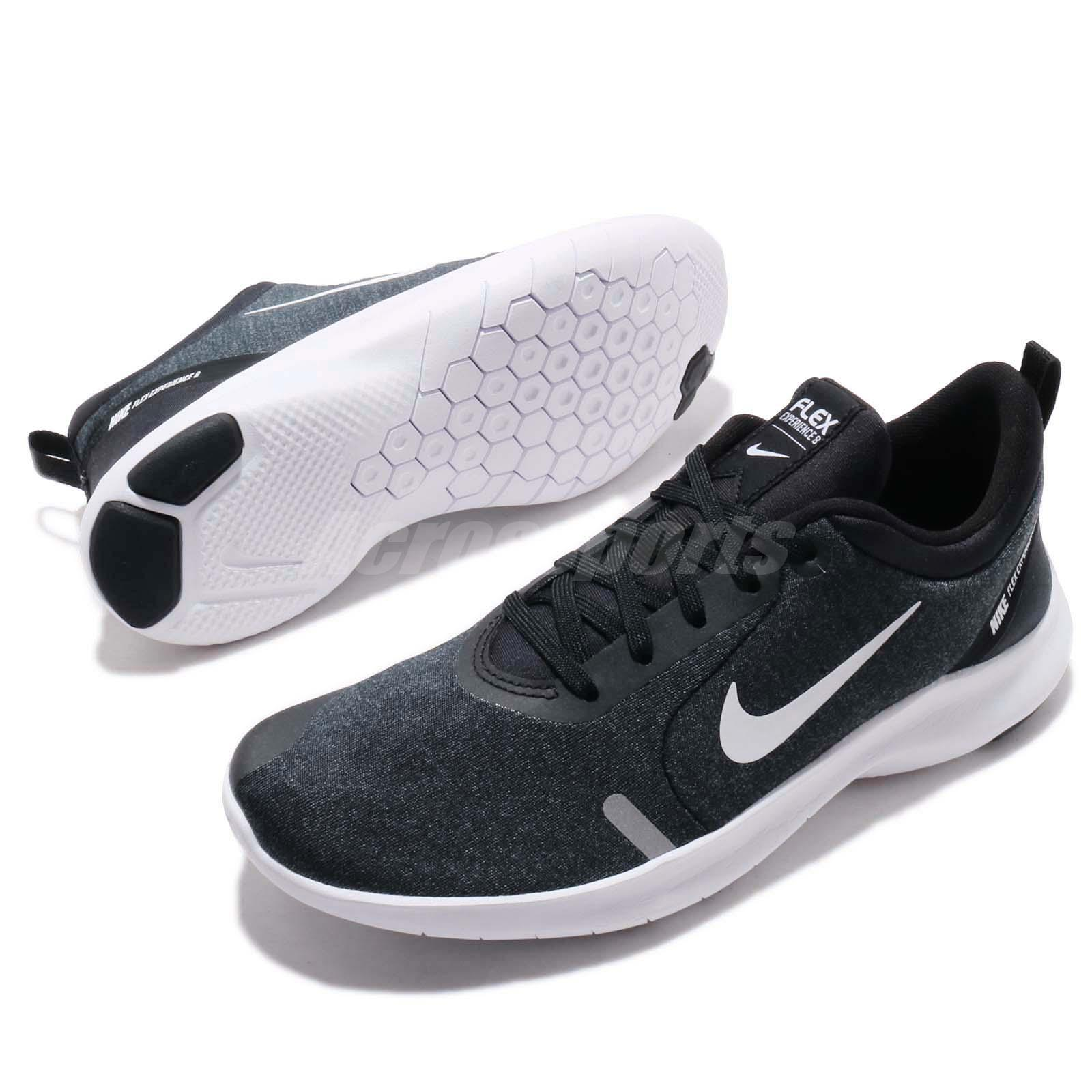 eb151da1d69 Nike Wmns Flex Experience RN 8 Run Black White Women Running Shoes ...