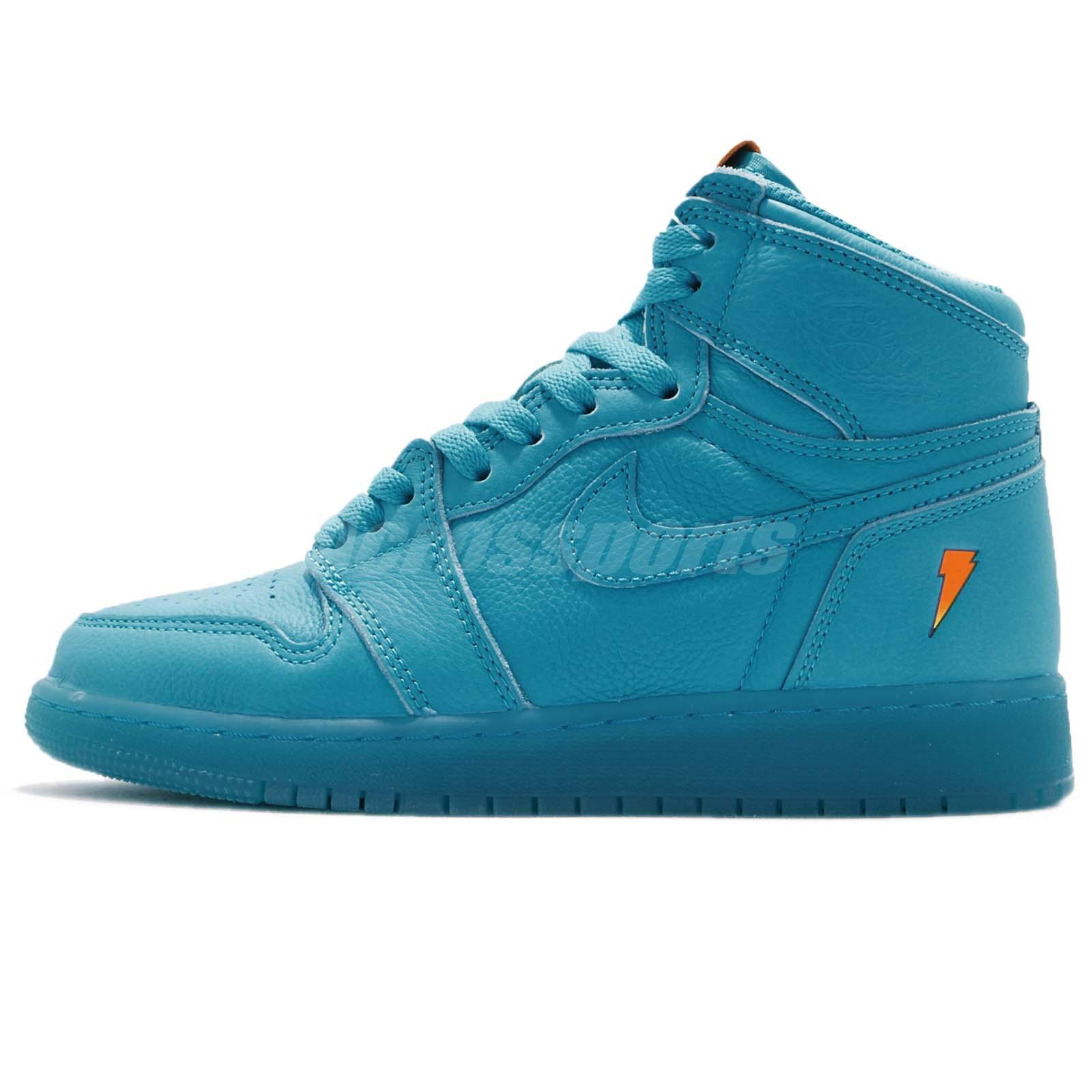 37f4f399f39239 Details about Nike Air Jordan 1 RET Hi OG G8RD BG Gatorade Blue Lagoon Kid  Youth AJ6000-455