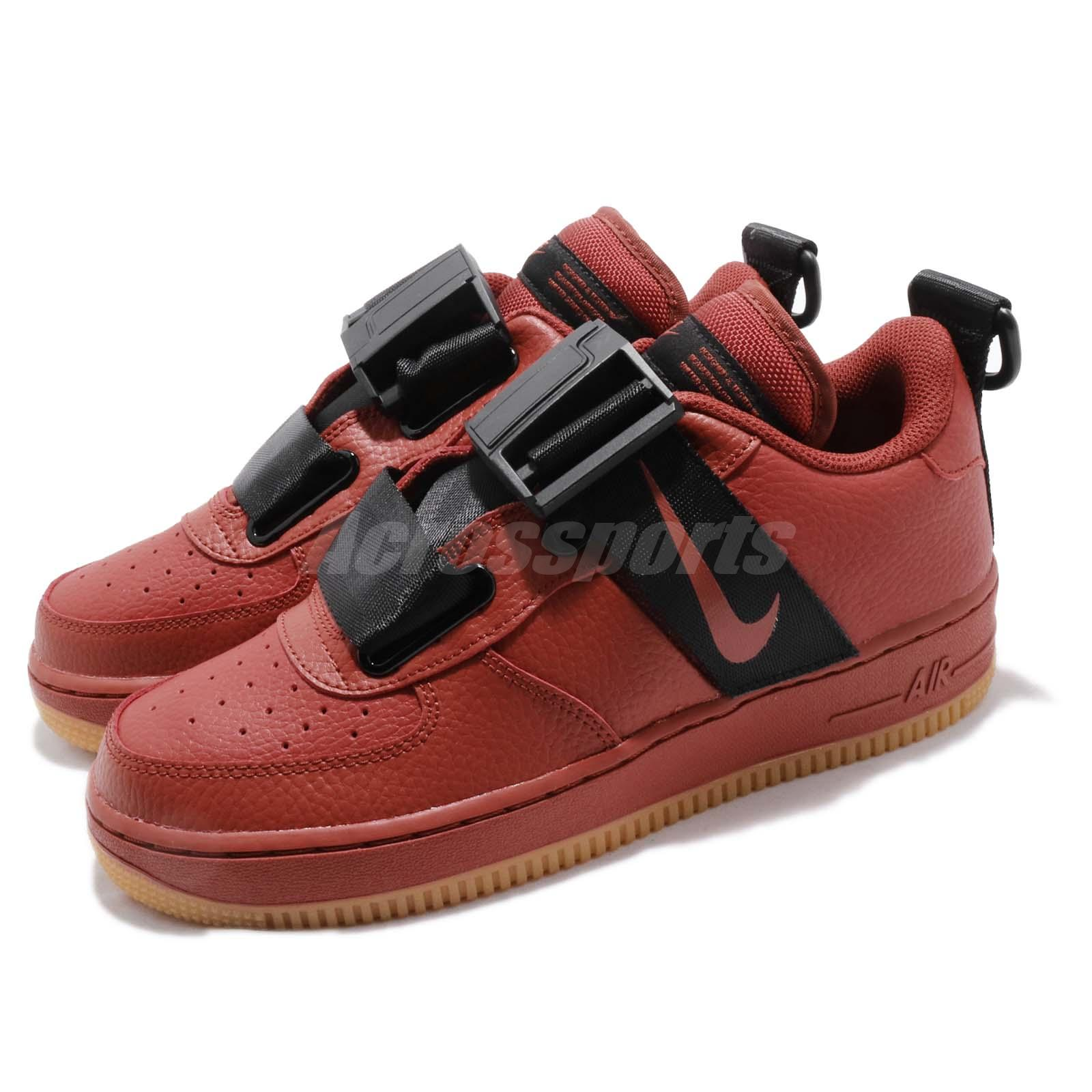 Nike Air Force 1 Mid Youth GS shoes red black