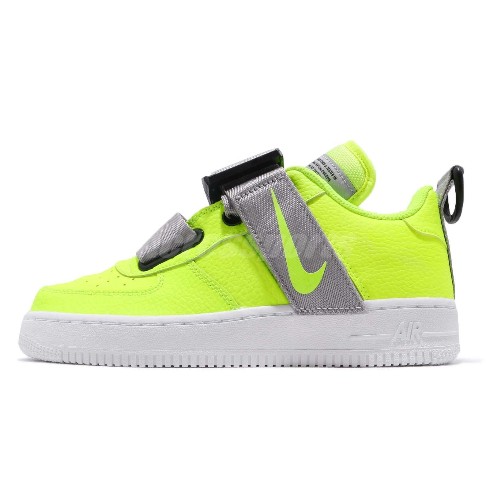 finest selection 668ce 976bb Nike Air Force 1 Utility GS AF1 Volt Reflect Silver Kid Youth Women  AJ6601-700