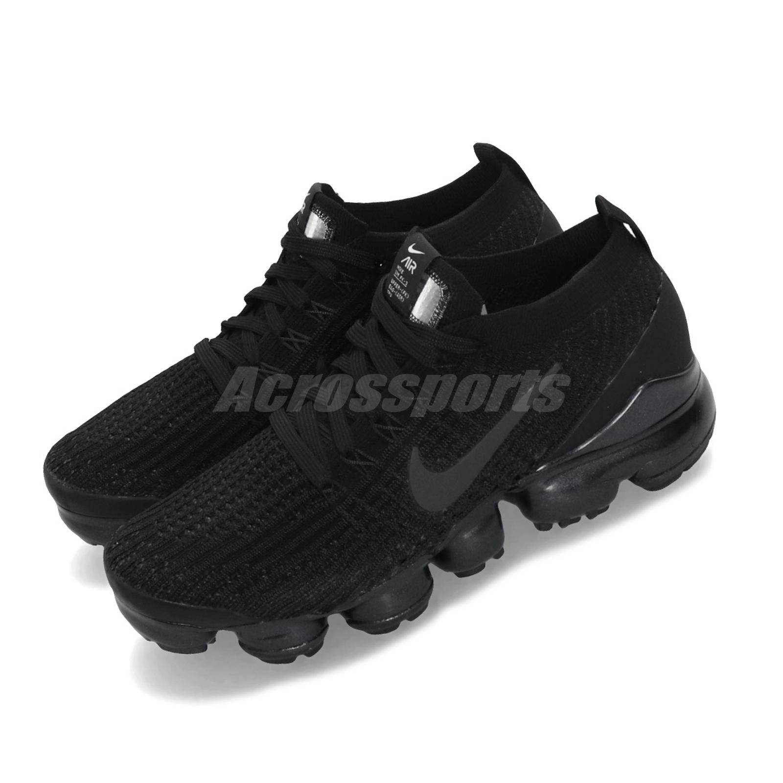 buy online bf632 0e714 Details about Nike Wmns Air Vapormax Flyknit 3 III Black White Women  Running Shoes AJ6910-002
