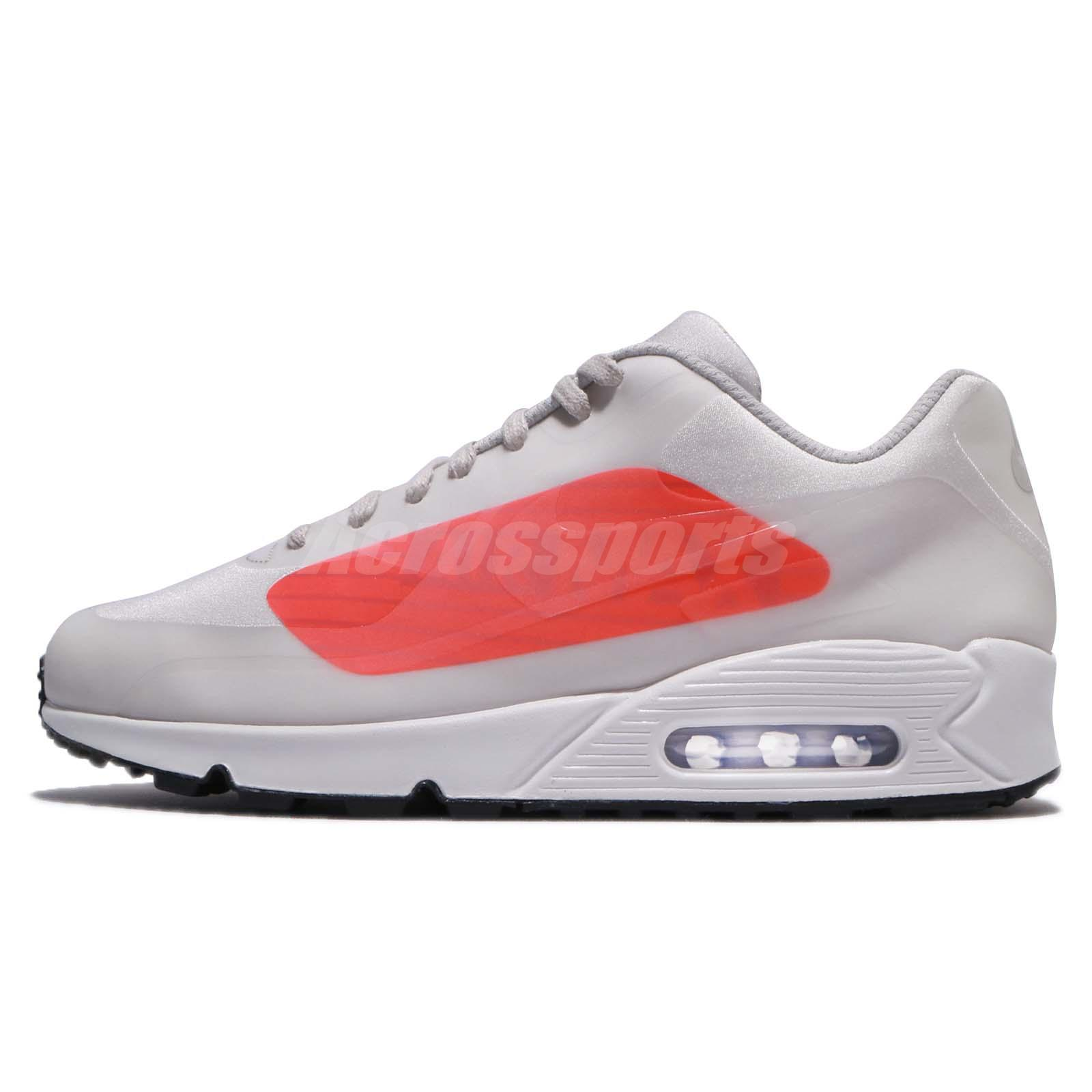 Nike Air Max 90 NS GPX Neutral Grey Bright Crimson Big Logo Men Shoes AJ7182 -001 39b75cfd3