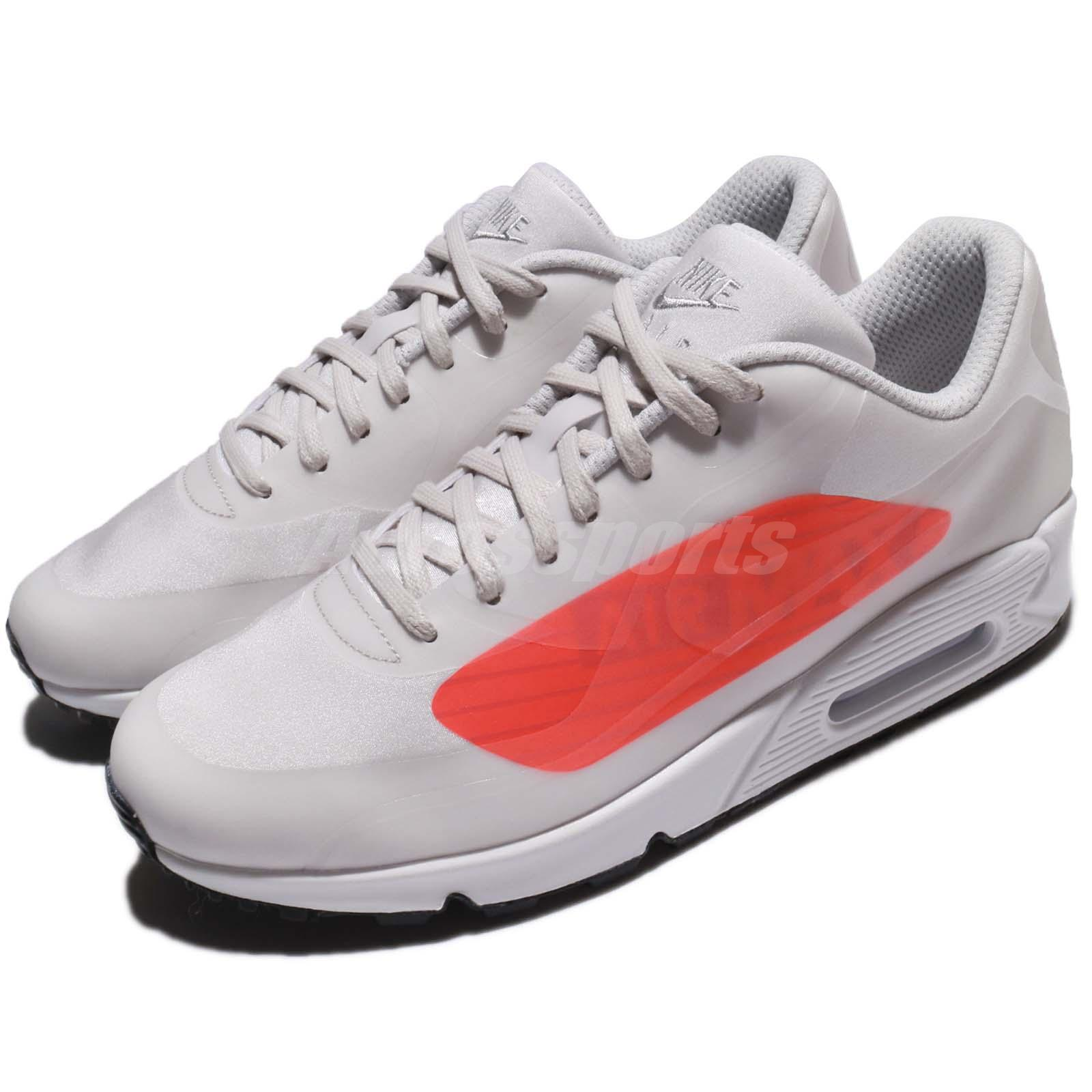timeless design 24e0b 7d35d Details about Nike Air Max 90 NS GPX Neutral Grey Bright Crimson Big Logo  Men Shoes AJ7182-001