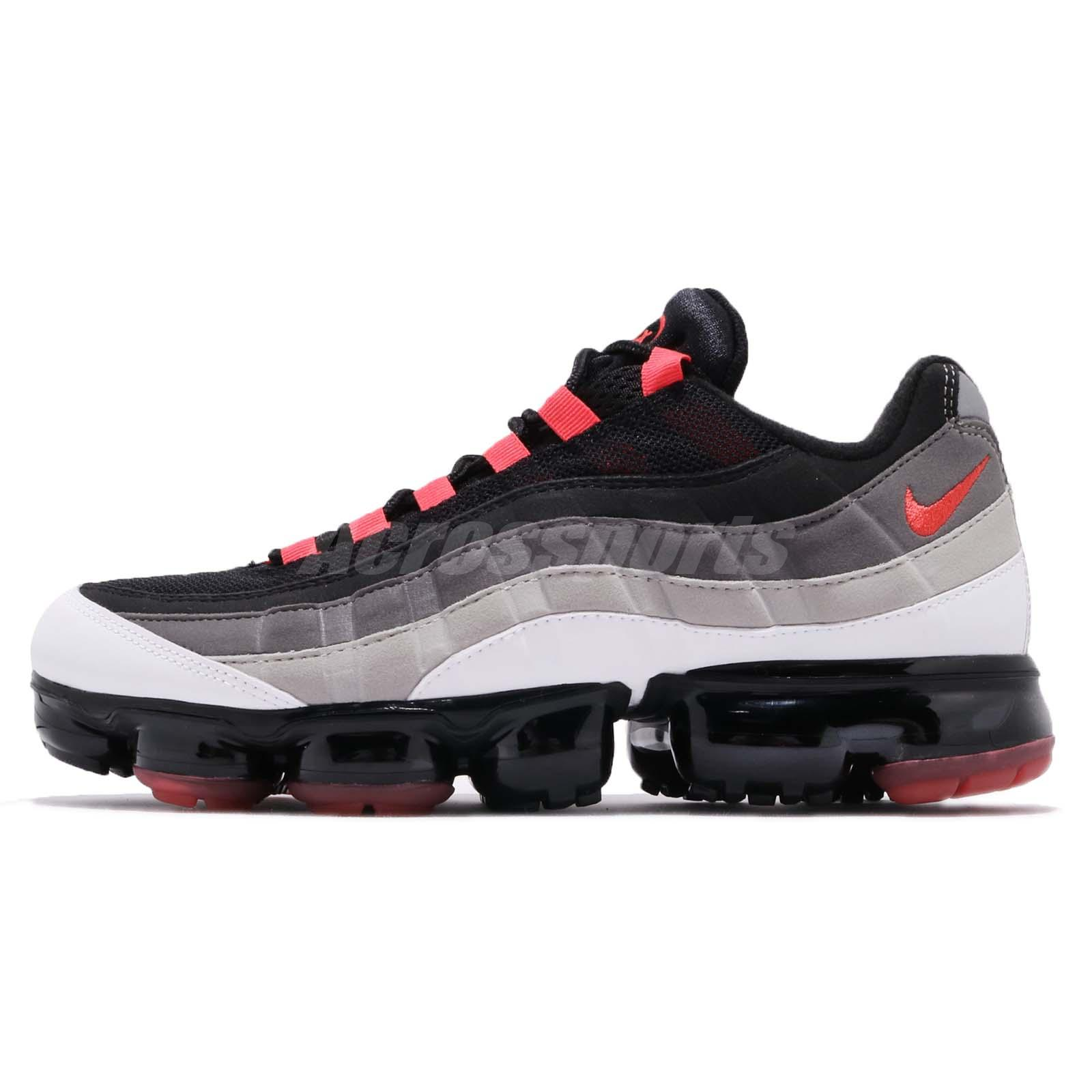 ae9b19723a Details about Nike Air Vapormax 95 Hot Red White Dark Pewter Men Running  Shoes AJ7292-101