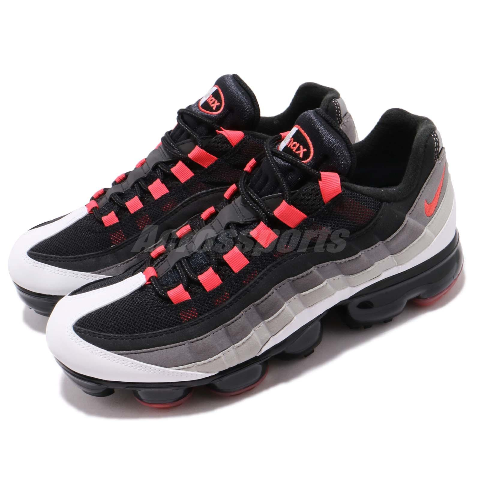34d767354723 Details about Nike Air Vapormax 95 Hot Red White Dark Pewter Men Running Shoes  AJ7292-101