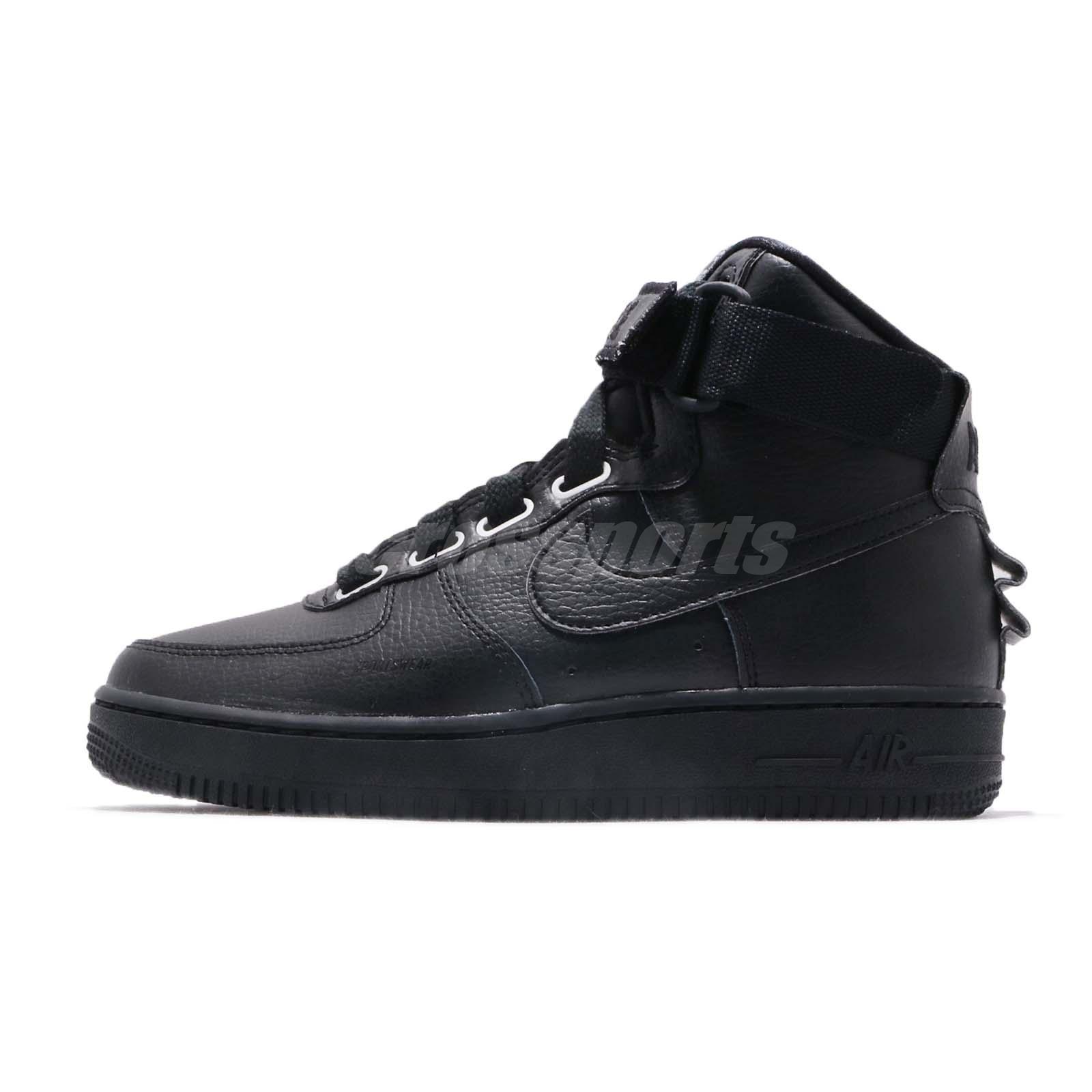 sports shoes 6290b 14e0b Nike Wmns AF1 Hi UT Air Force 1 Utility Black Womens Shoes Sneakers AJ7311 -001
