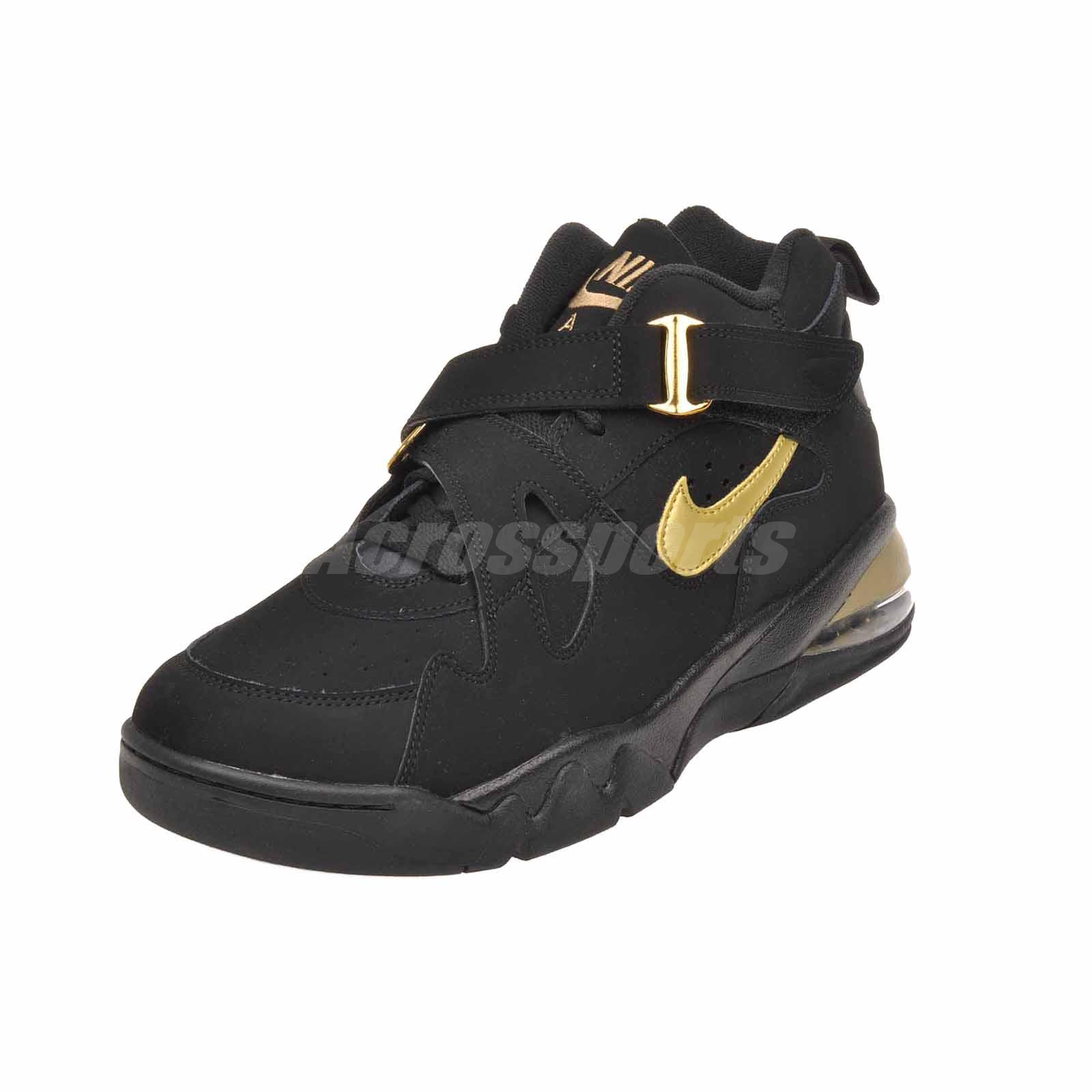 best sneakers a2b13 c0395 Nike Air Force Max CB Basketball Mens Barkley Shoes Black Gold ...