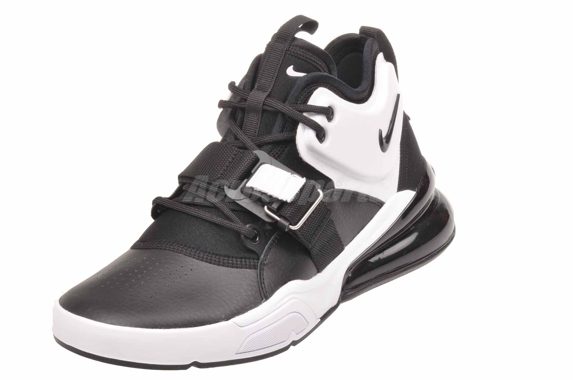 bb86cac738 Details about Nike Air Force 270 GS Basketball Kids Youth SHoes Black White  AJ8208-001