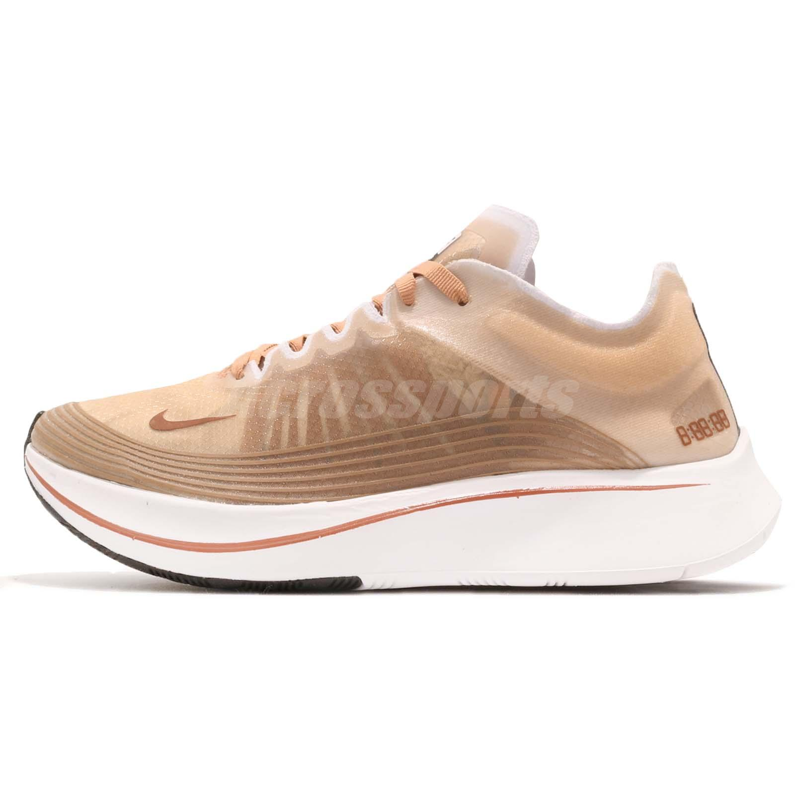 450117a29f6f Nike Wmns Zoom Fly SP Dusty Peach White Women Running Shoes Sneakers  AJ8229-200