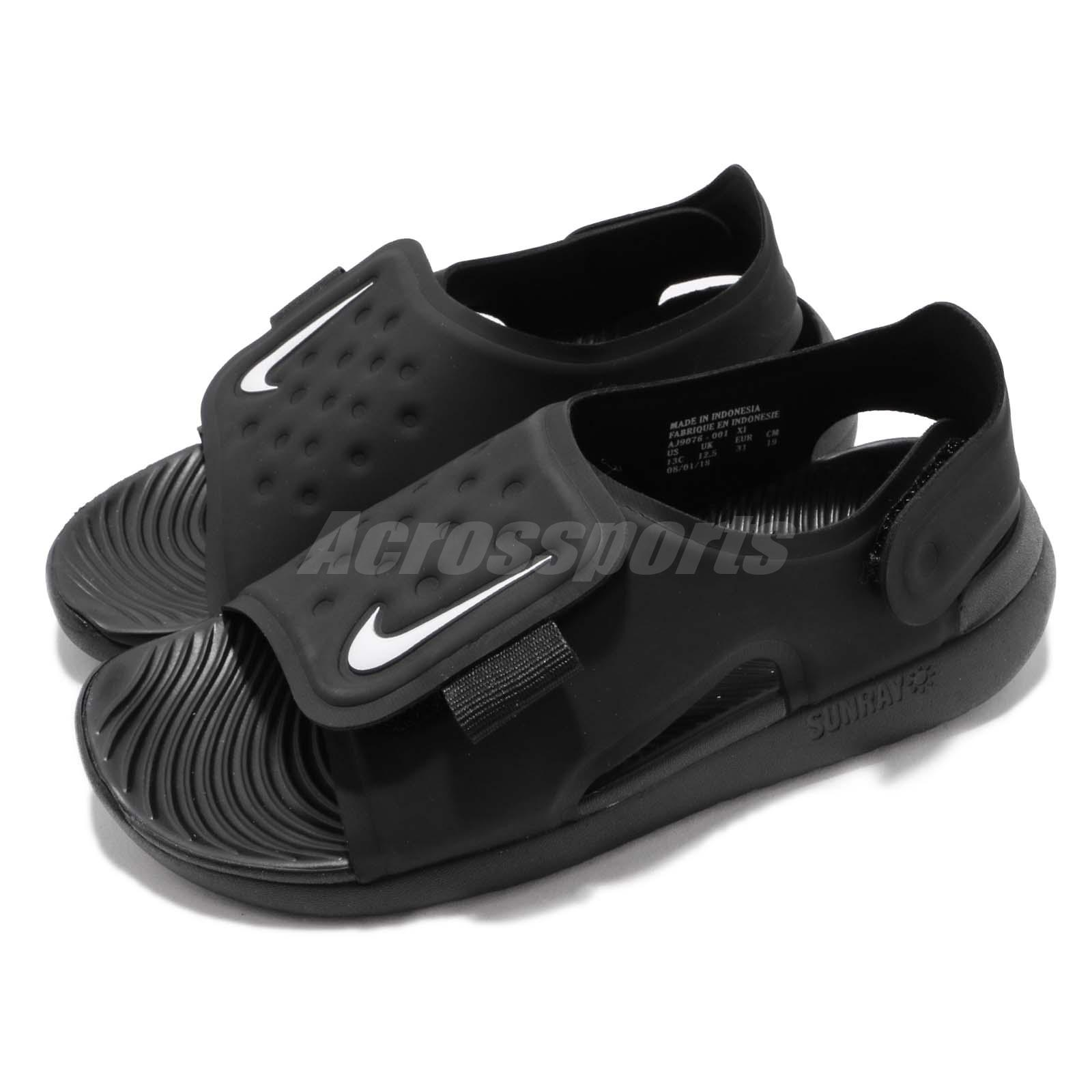 fe6593e01 Details about Nike Sunray Adjust 5 GS PS Black White Kid Preschool Sports  Sandals AJ9076-001
