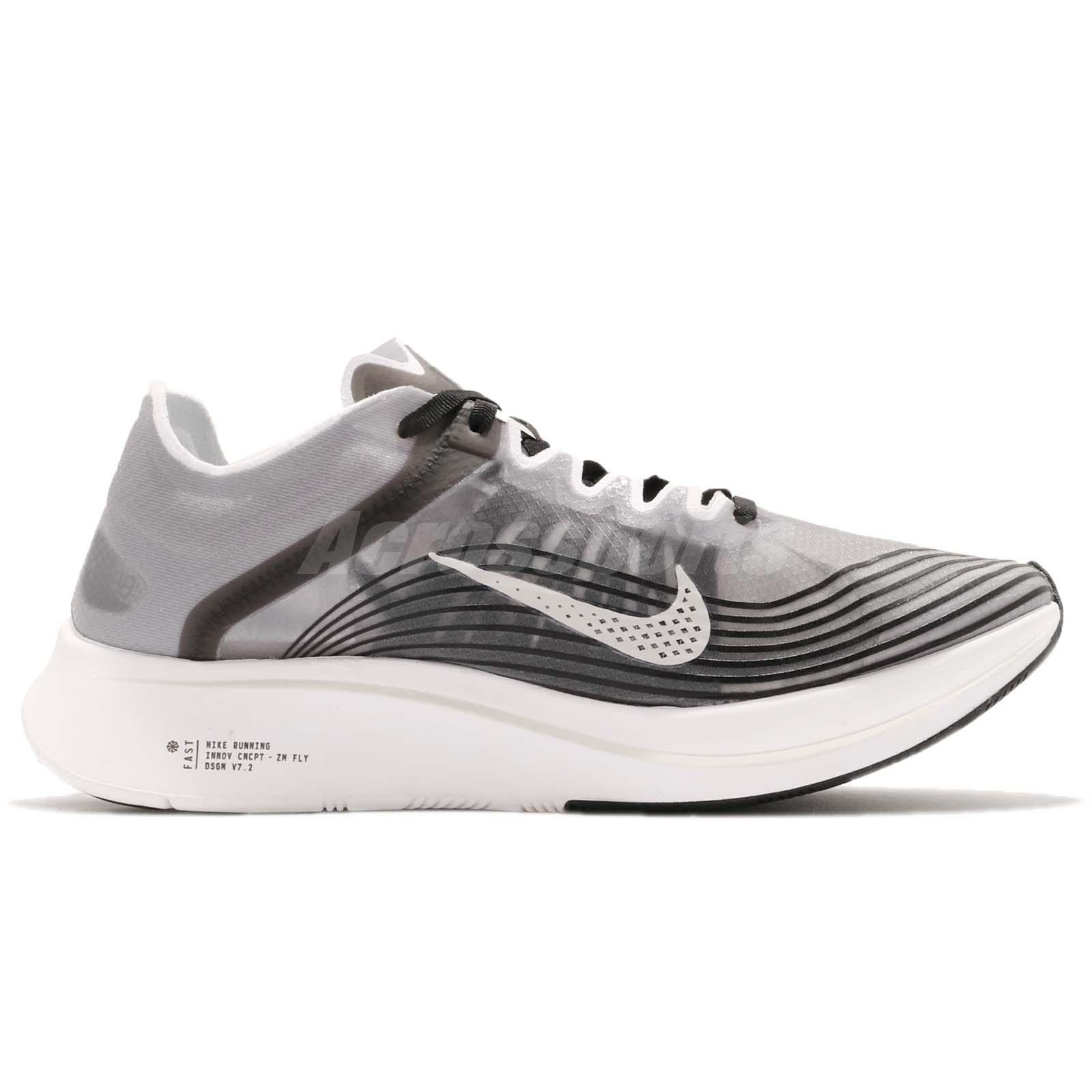 64cbf39fb3f Nike Zoom Fly SP Black Light Bone White Men Running Shoes Sneakers ...