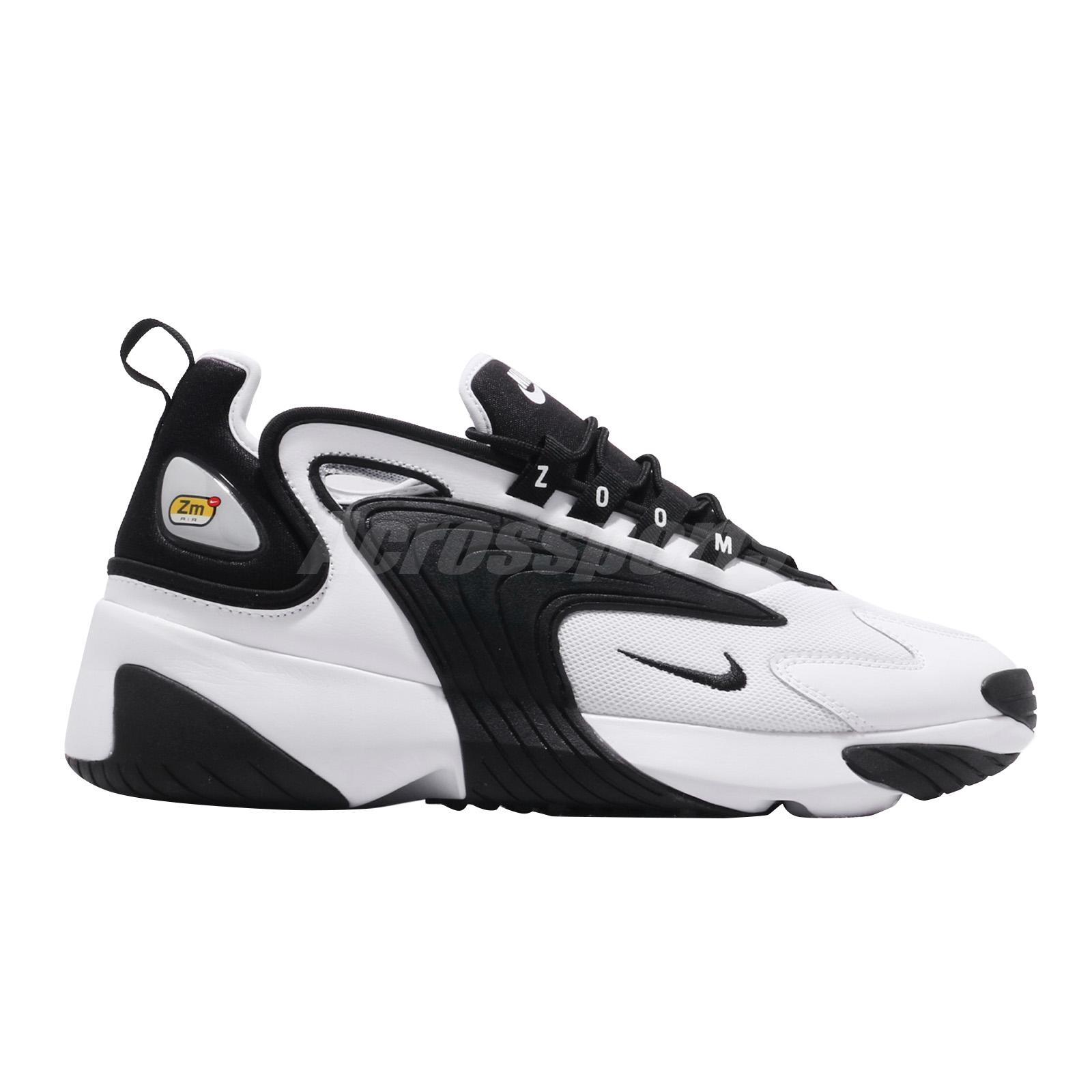 858eee2f1e99f Nike Zoom 2K ZM Air 2000 White Black Men Lifestyle Shoes Sneakers ...