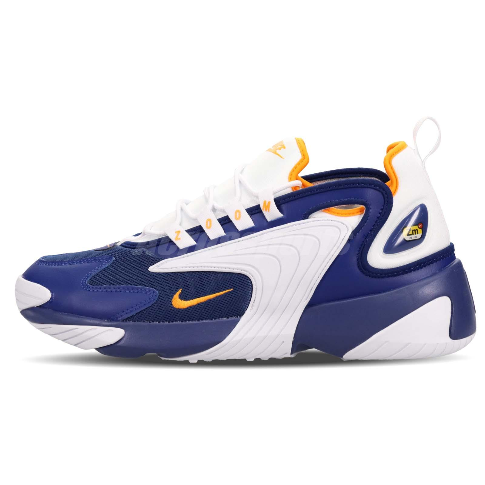 Details about Nike Zoom 2K Blue Orange White Mens Running Shoes Retro  Sneakers AO0269-400