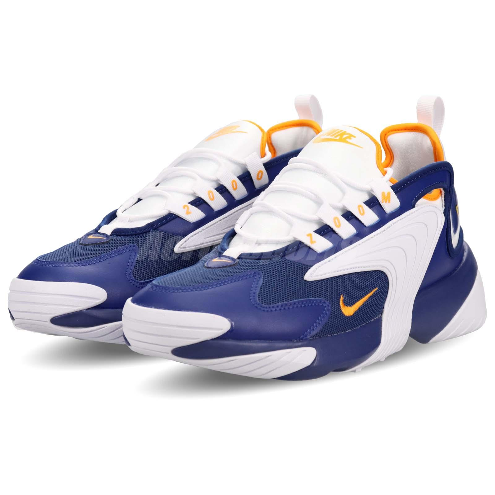 competitive price 3a53a a9235 Details about Nike Zoom 2K Blue Orange White Mens Running Shoes Retro  Sneakers AO0269-400