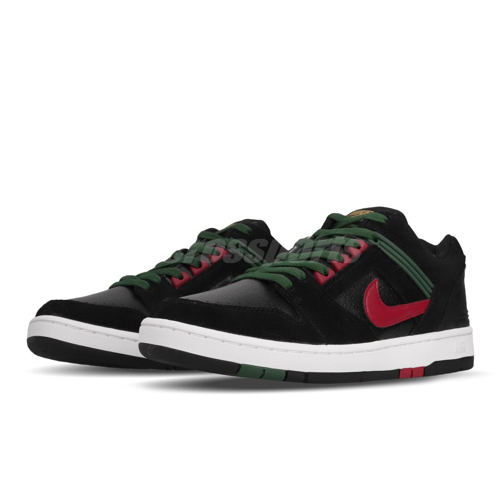 Air about Nike Low Skateboarding 002 Green Red Shoes Details Mens II SB AO0300 Force Black hQstrdC