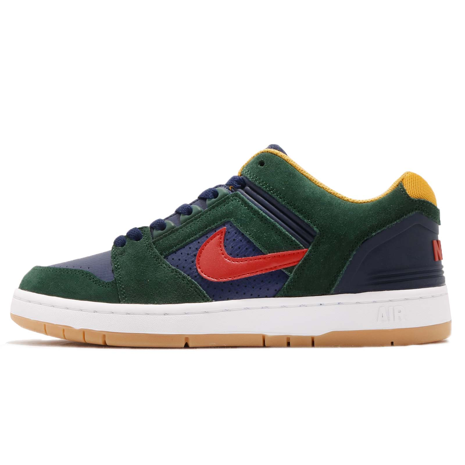 a09d6f076ca Nike SB Air Force II Low 2 Midnight Green Gum Men Skate Boarding Shoe  AO0300-364