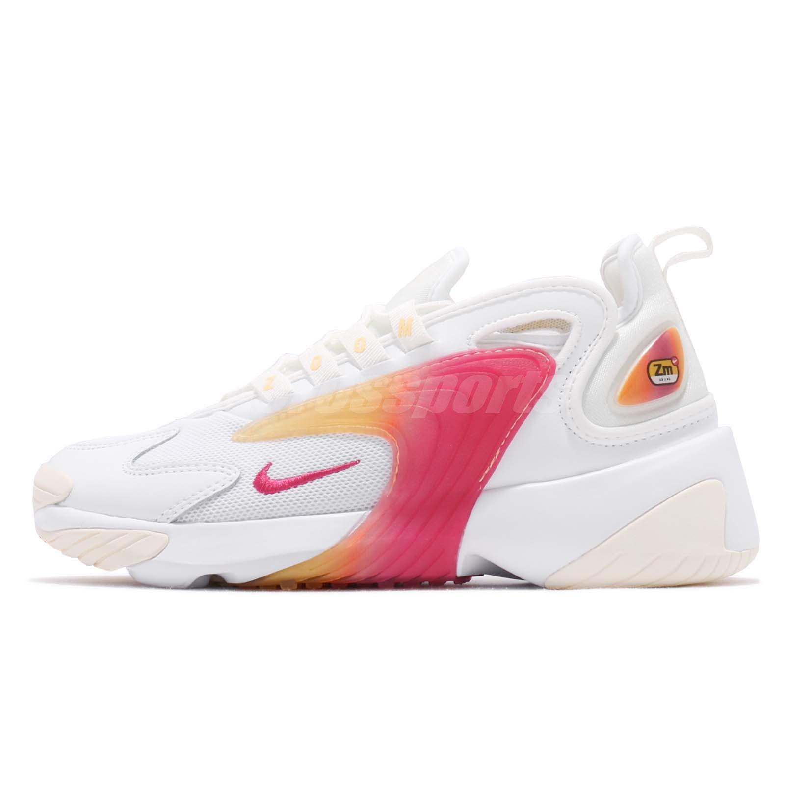 newest 26e41 77306 Nike Wmns Zoom 2K White Rush Pink Sail Womens Running Shoes Sneakers AO0354- 102