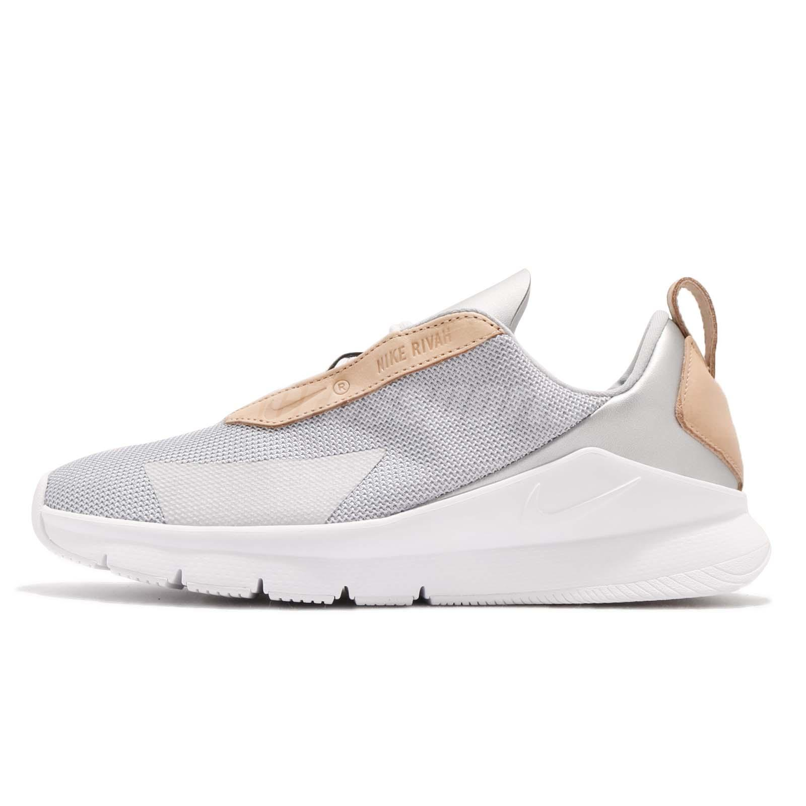 Details about Nike Wmns Rivah SE PRM Premium Metallic Silver White Women  Shoes AO0796-001
