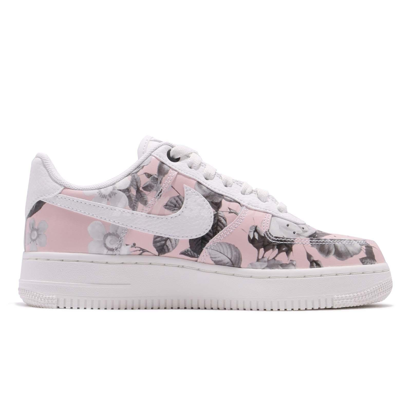 lowest price 94c9d af97e Nike Wmns Air Force 1 07 LXX Floral Rose White Pink Women Casual ...