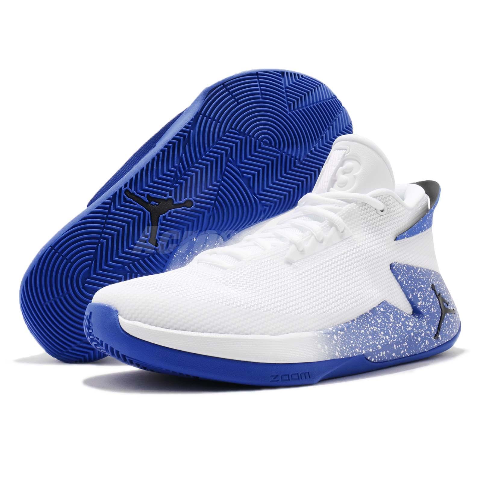45a6783eceb34a Nike Jordan Fly Lockdown PFX White Hyper Royal Men Basketball Shoes ...