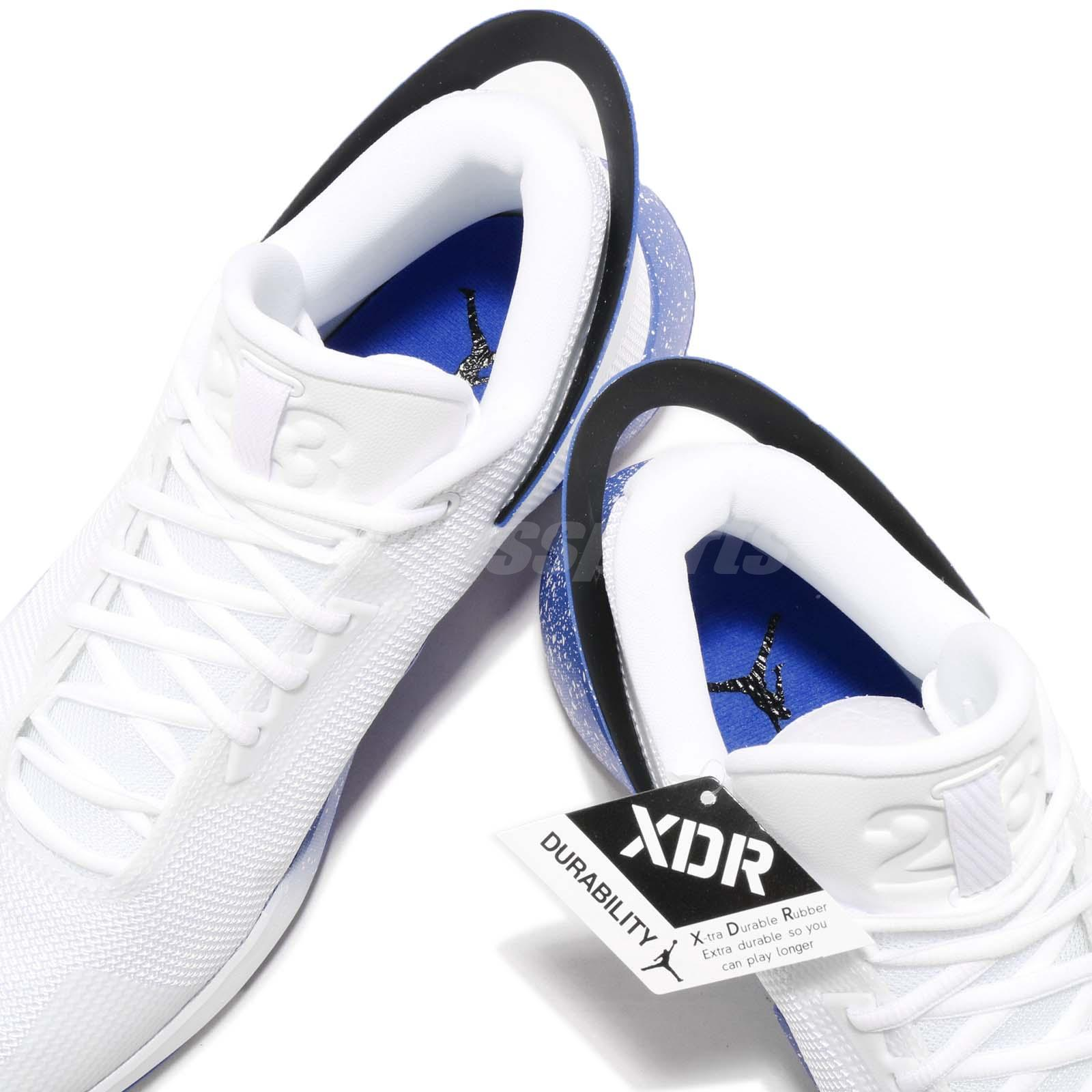695fb6aebda2d Nike Jordan Fly Lockdown PFX White Hyper Royal Men Basketball Shoes ...